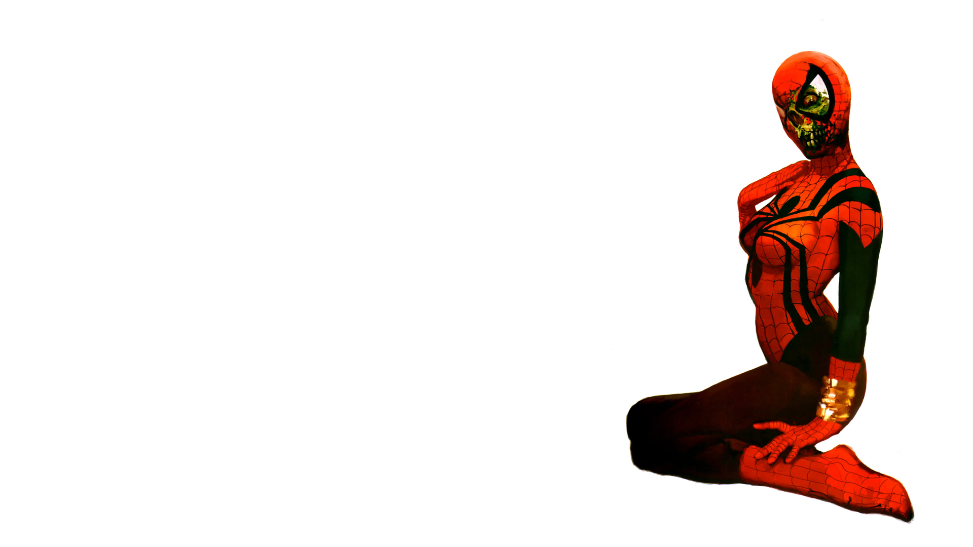 white background Spider-woman HD Wallpaper