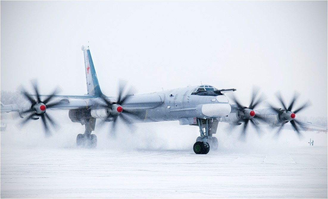white bomber Tu-95 Bear HD Wallpaper