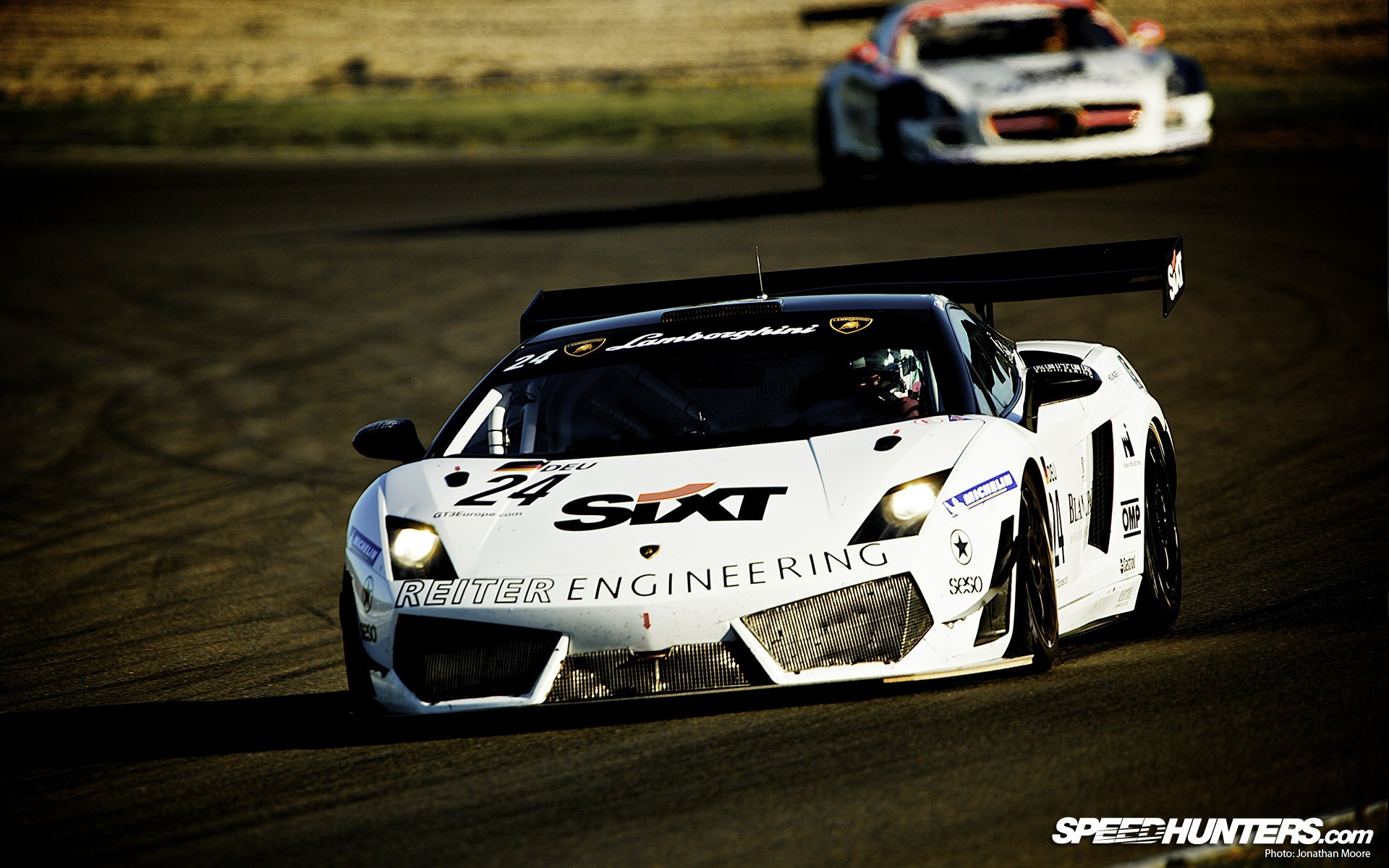 white cars circuits carrera HD Wallpaper