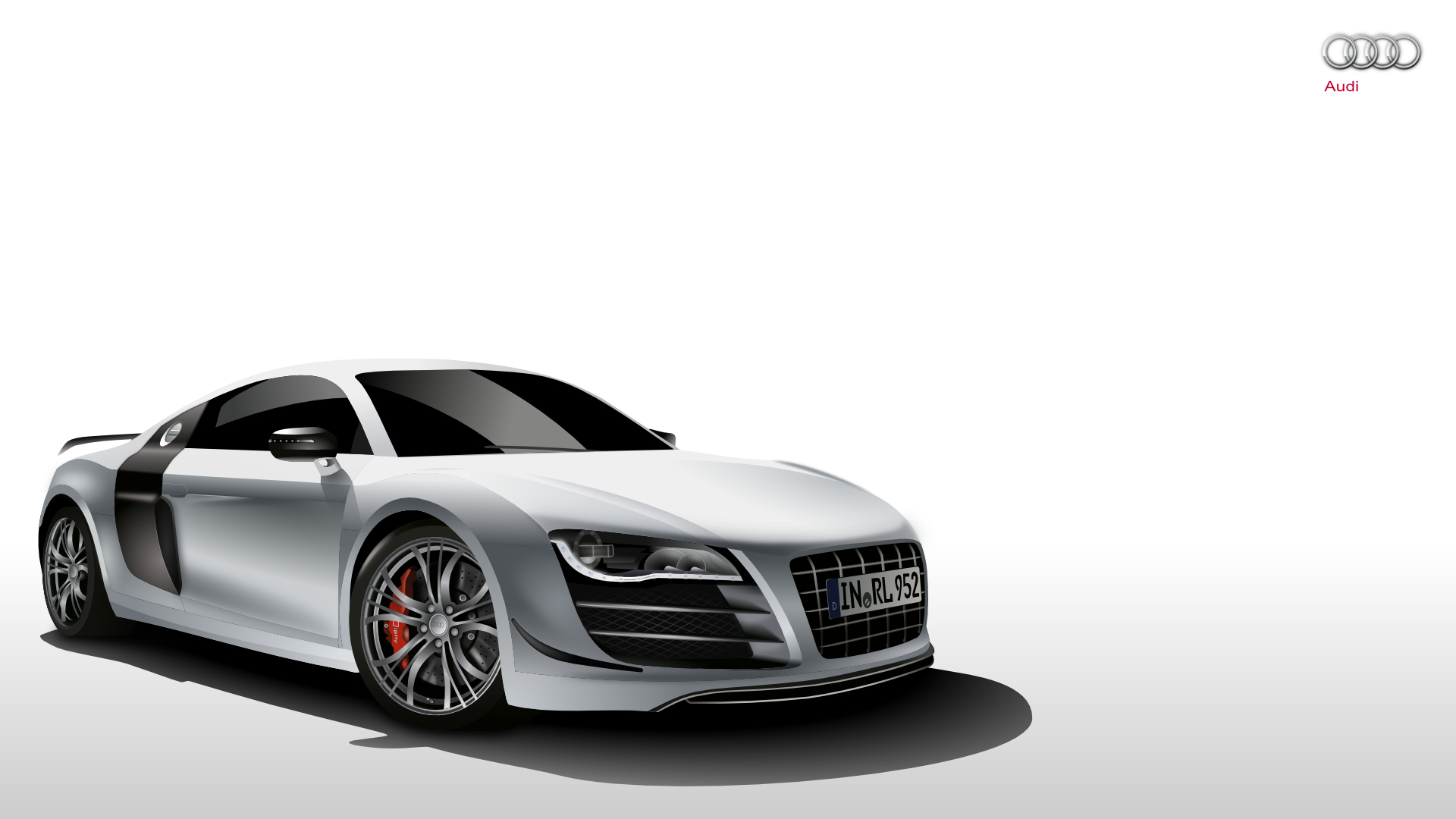 white cars germany gray HD Wallpaper