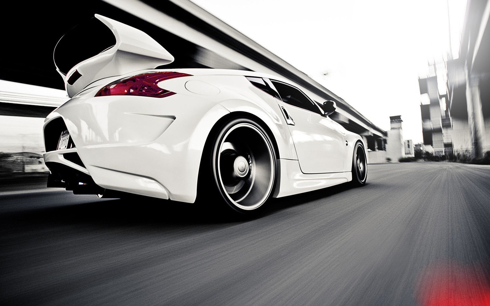 white cars Nissan Supercars HD Wallpaper