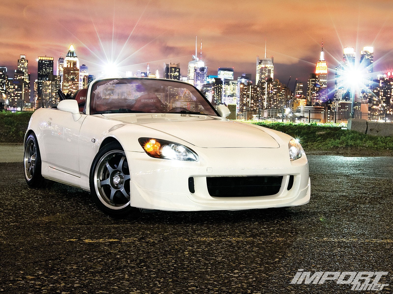 white cars tuning wheels HD Wallpaper