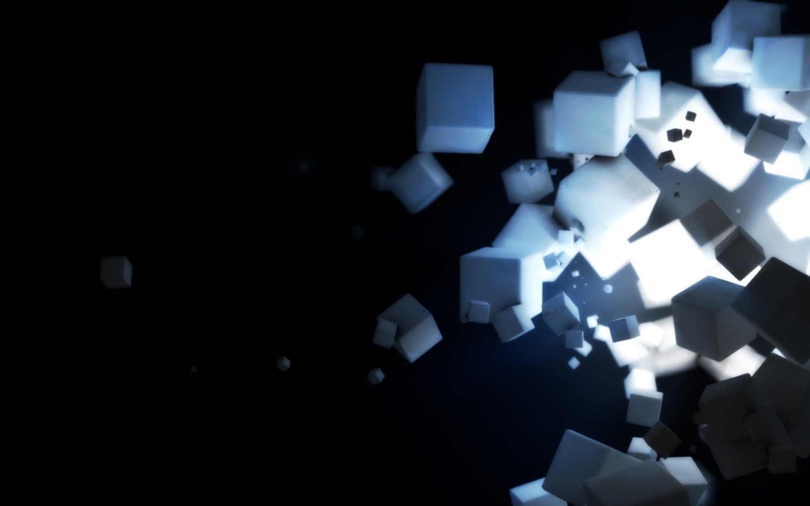 white cubes sugar Art HD Wallpaper