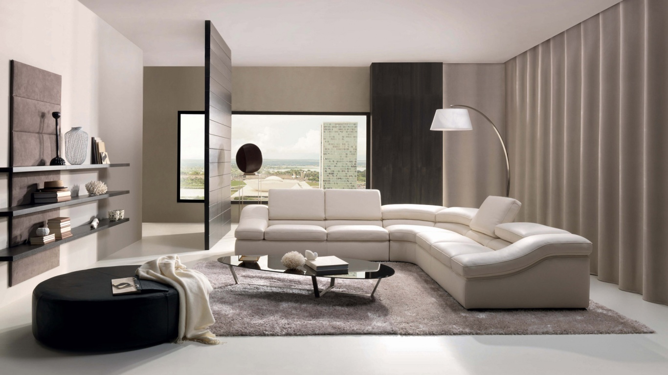 white room interior living HD Wallpaper