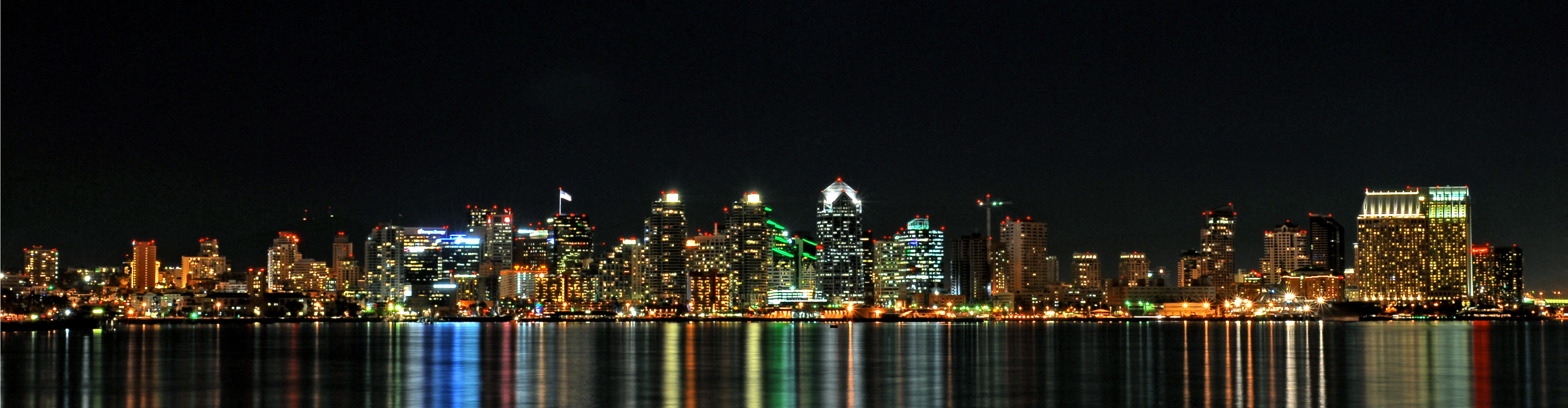 wide san diego night HD Wallpaper