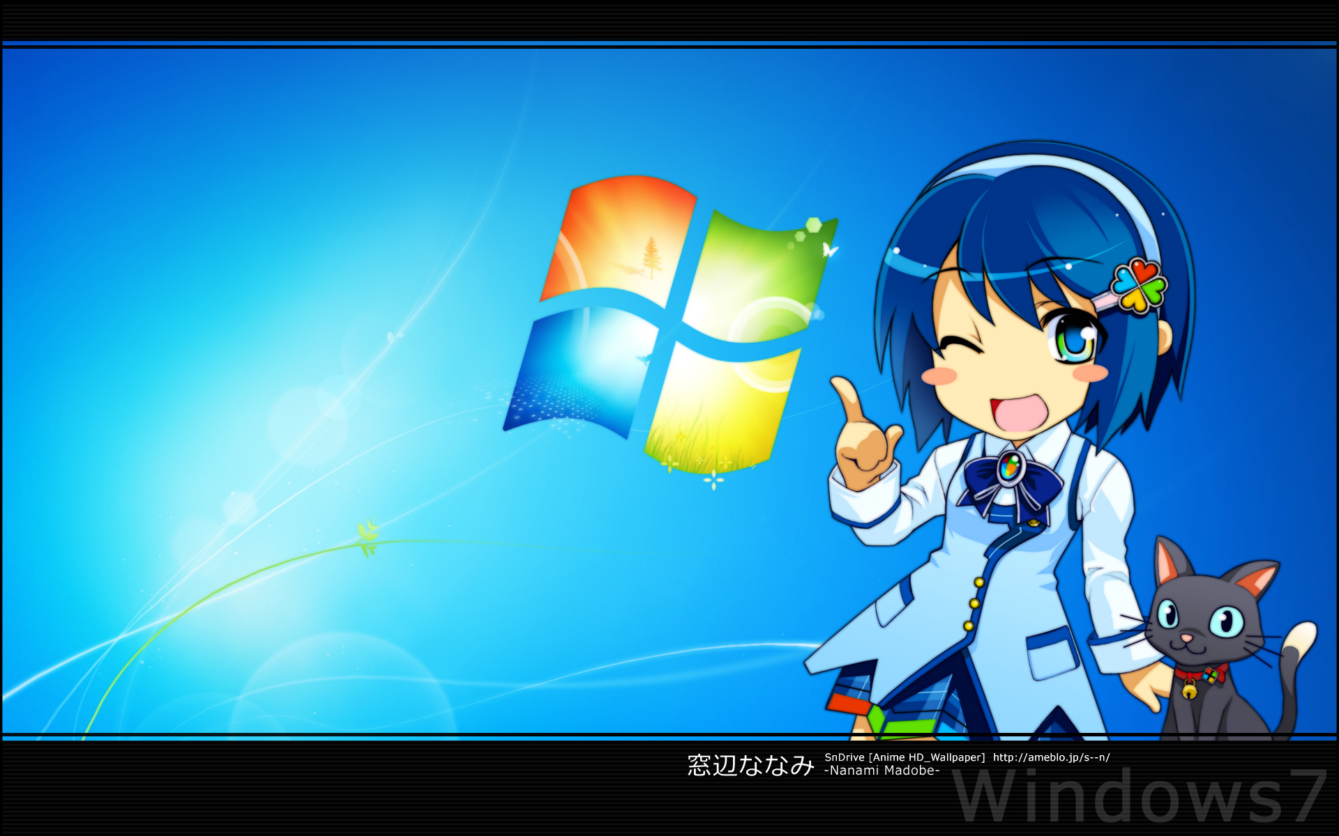 windows 7 madobe nanami HD Wallpaper