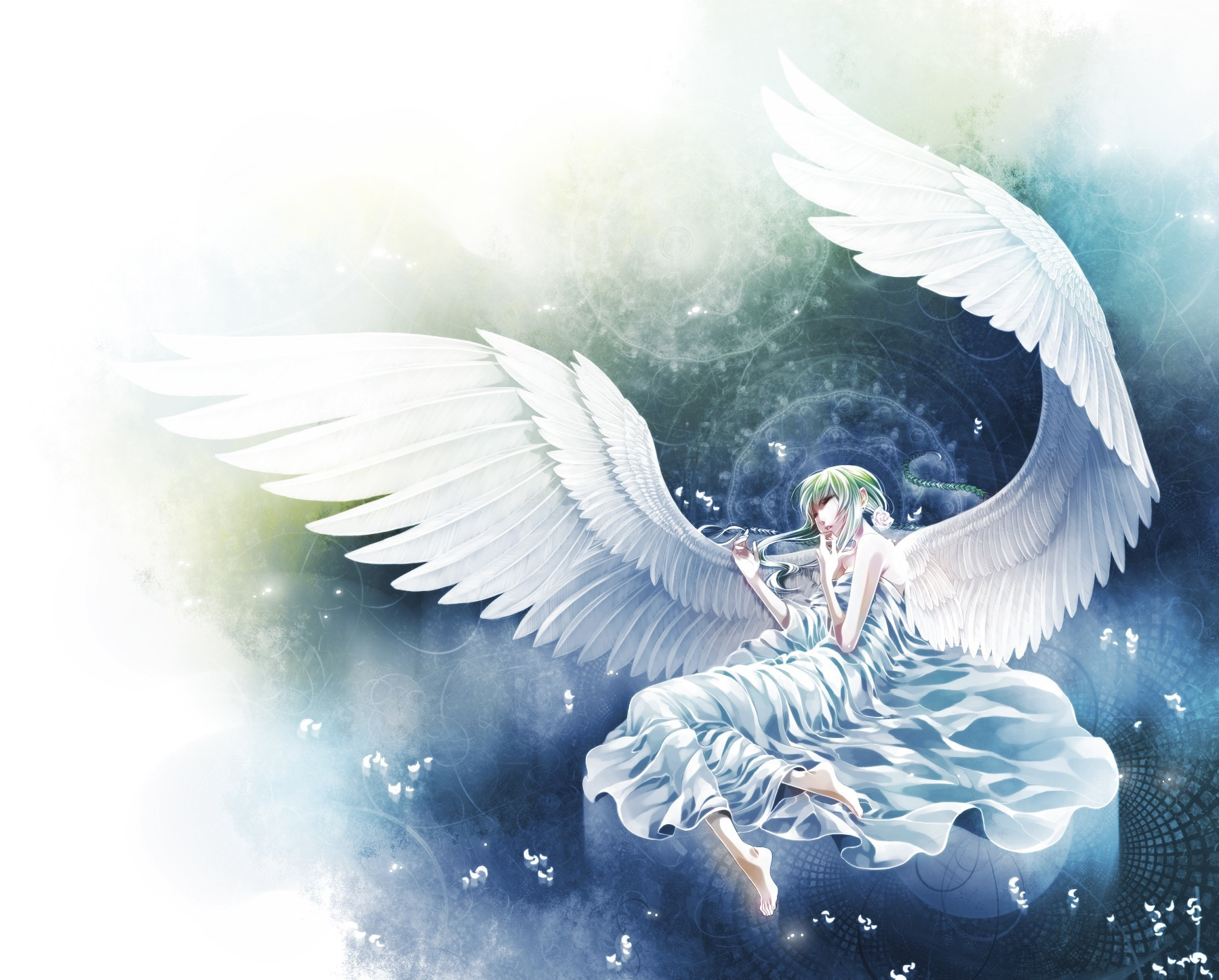 wings Anime dress angels HD Wallpaper