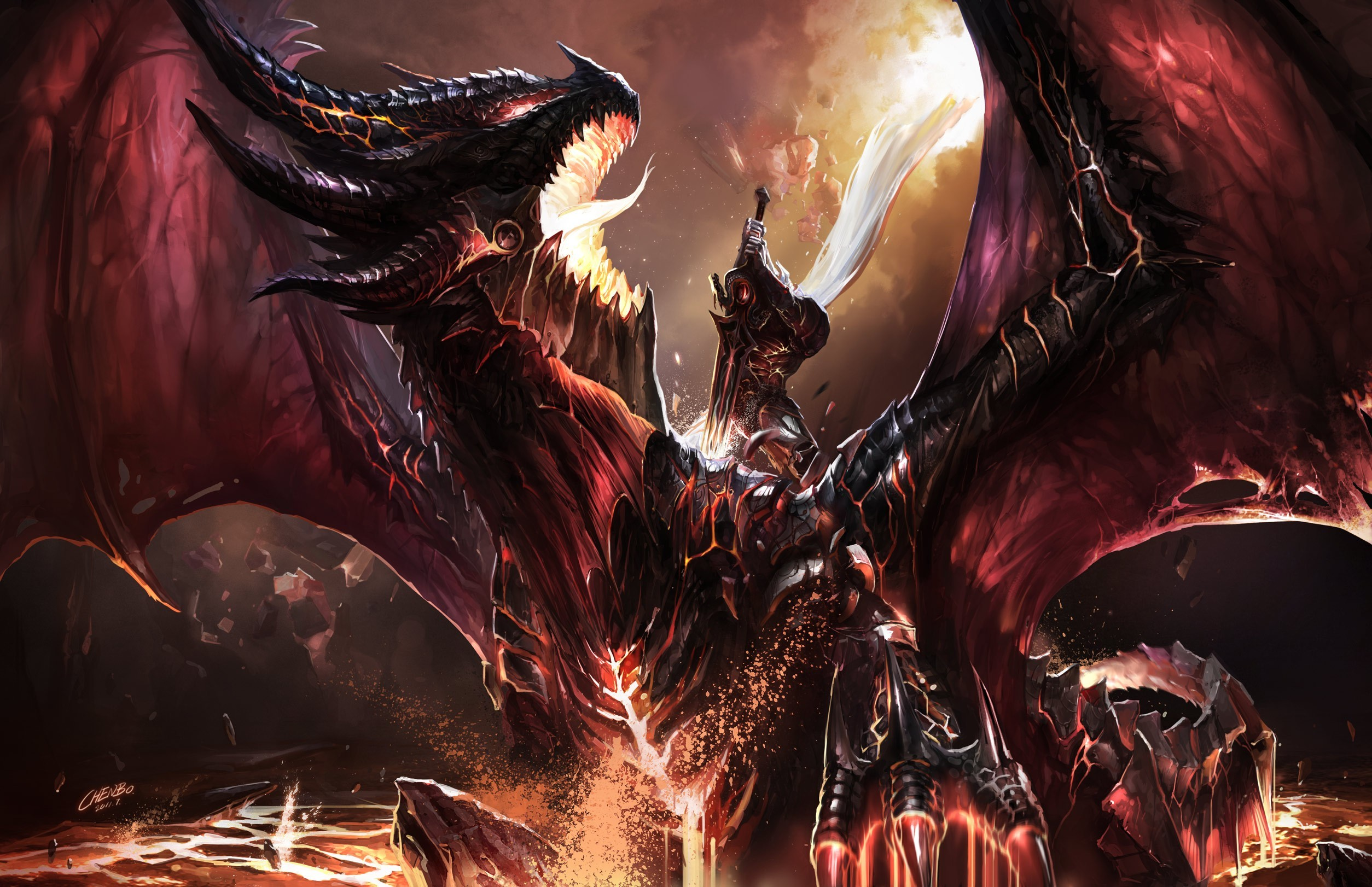 wings Dragons world of HD Wallpaper