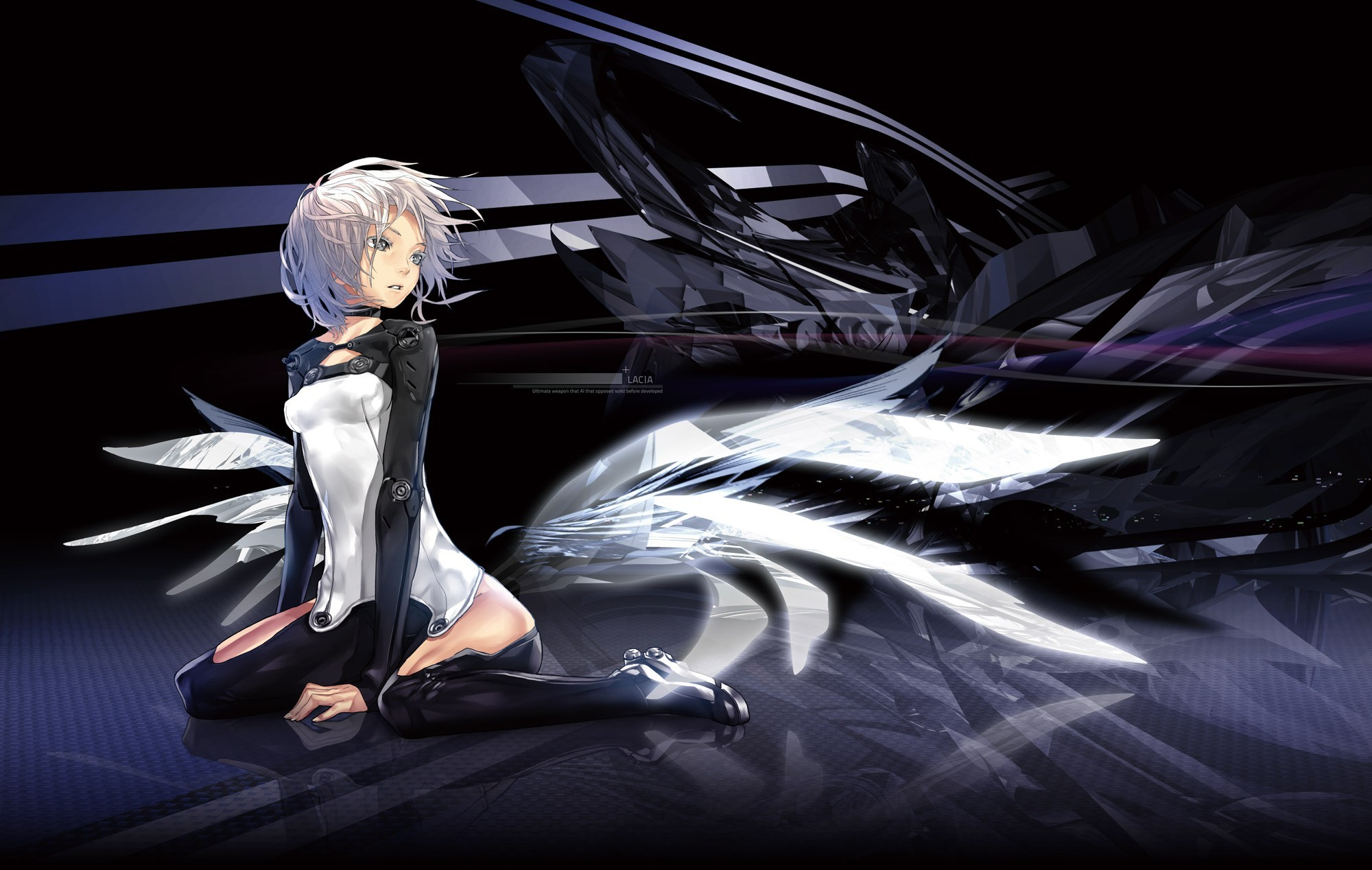 wings futuristic bodysuits Anime HD Wallpaper
