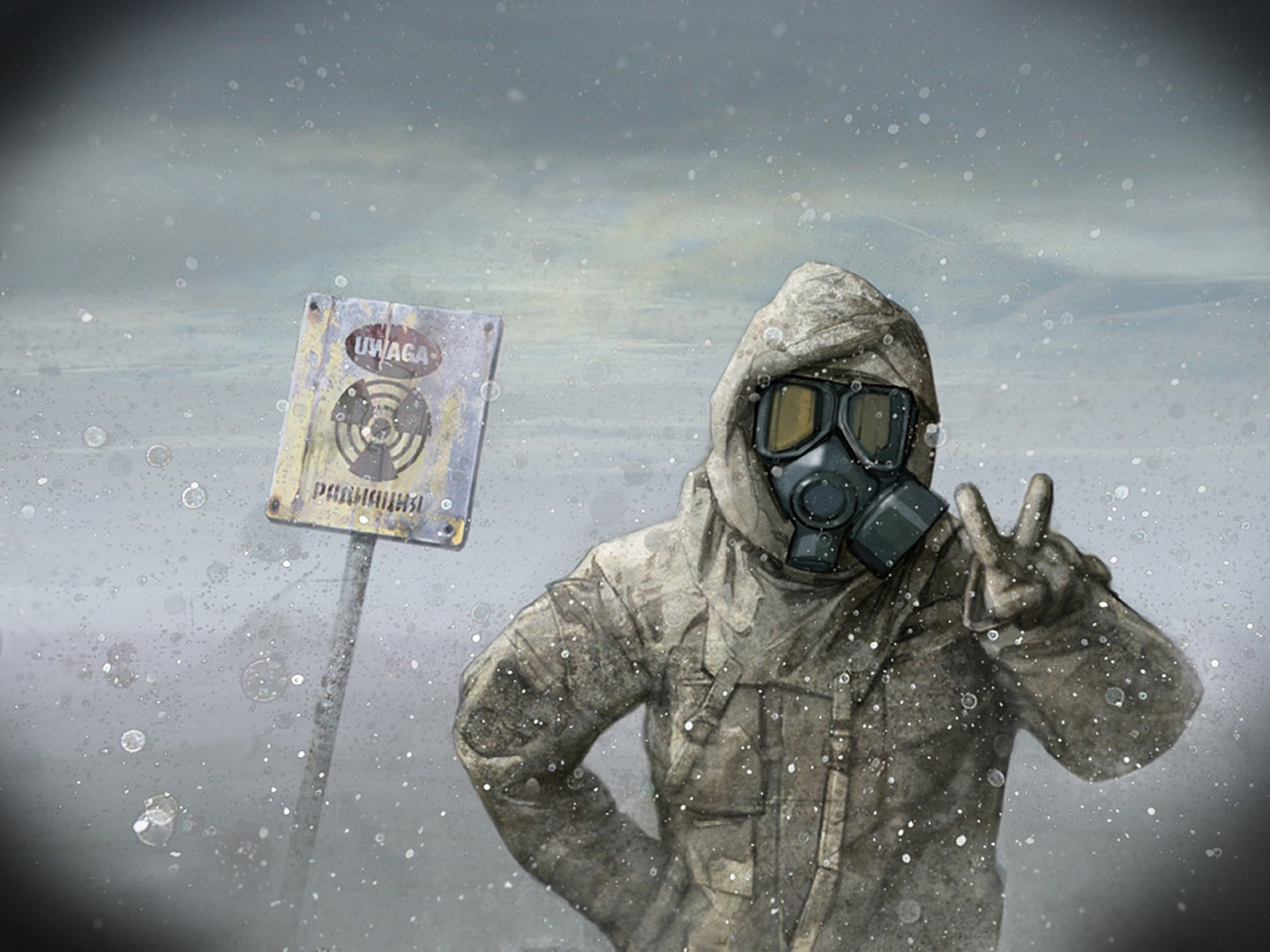 winter gas masks radioactive HD Wallpaper