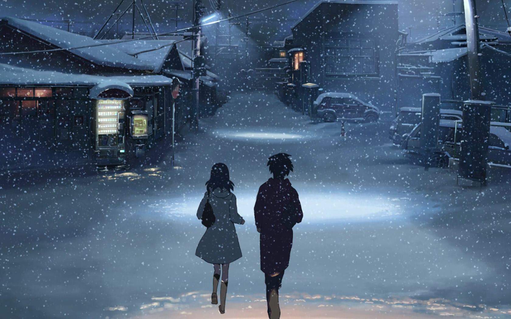 winter makoto shinkai scenic HD Wallpaper