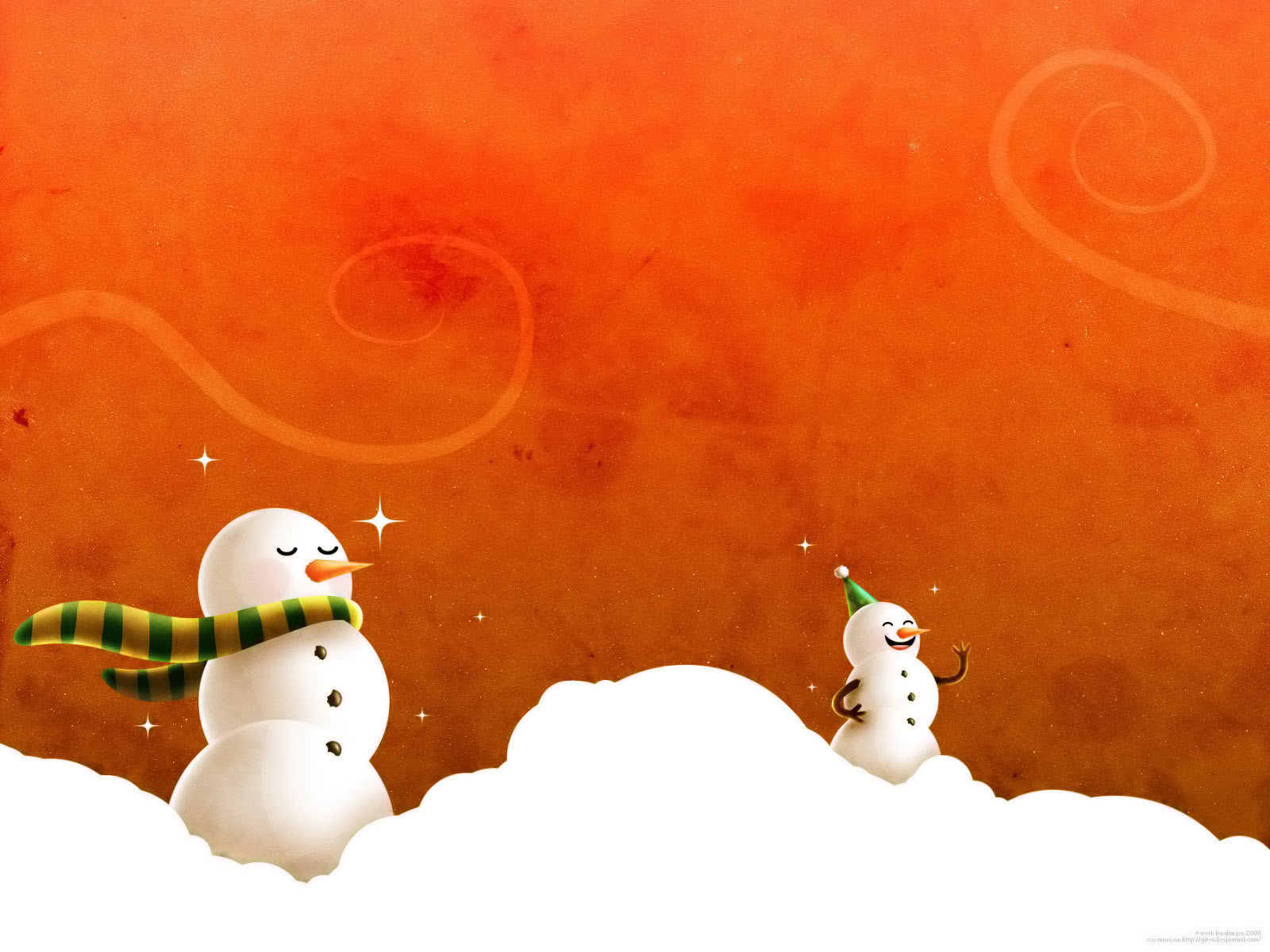 winter snow Snowmen