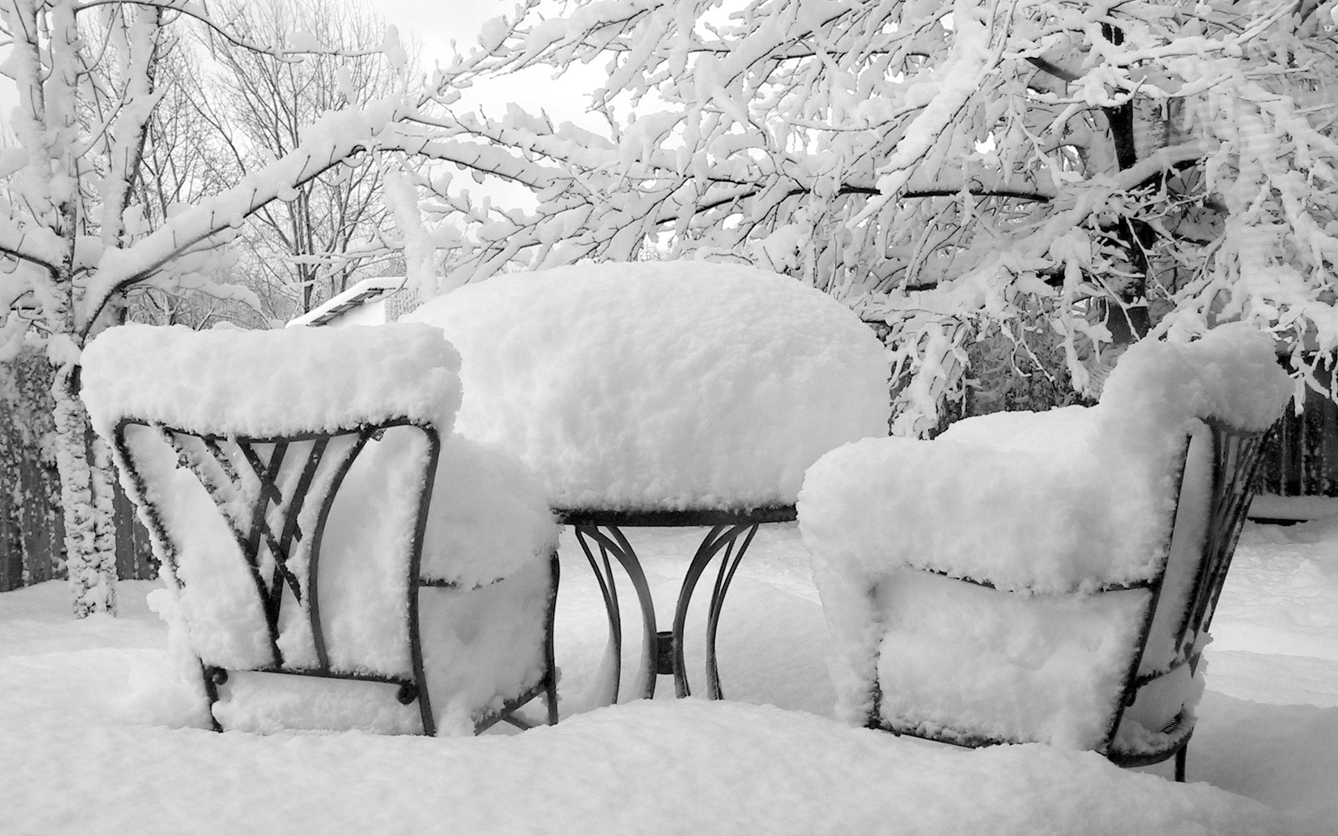 winter snow Tables Furniture HD Wallpaper