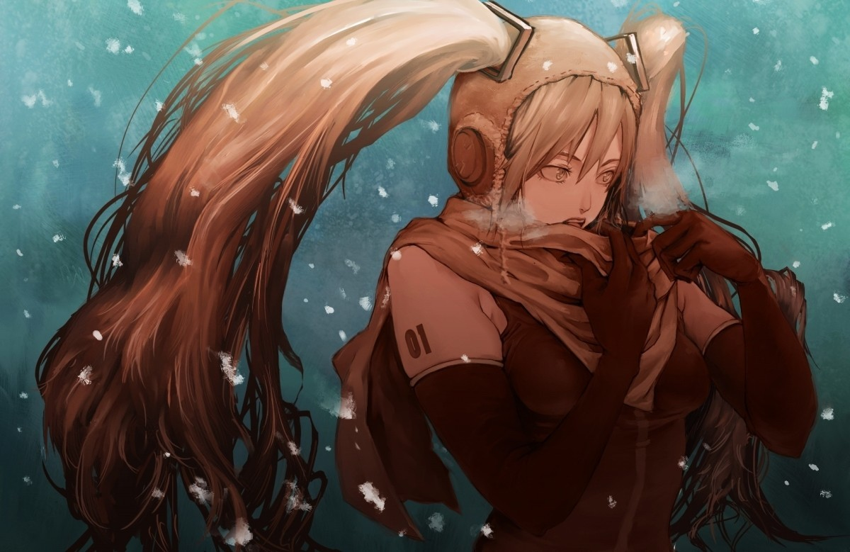 winter snow vocaloid gloves HD Wallpaper