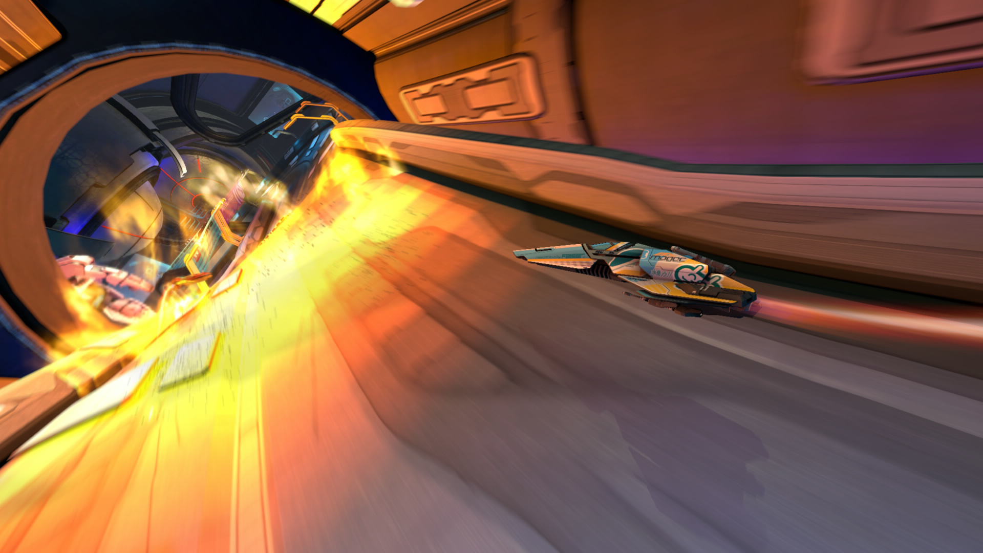Wipeout spaceship explosion game HD Wallpaper