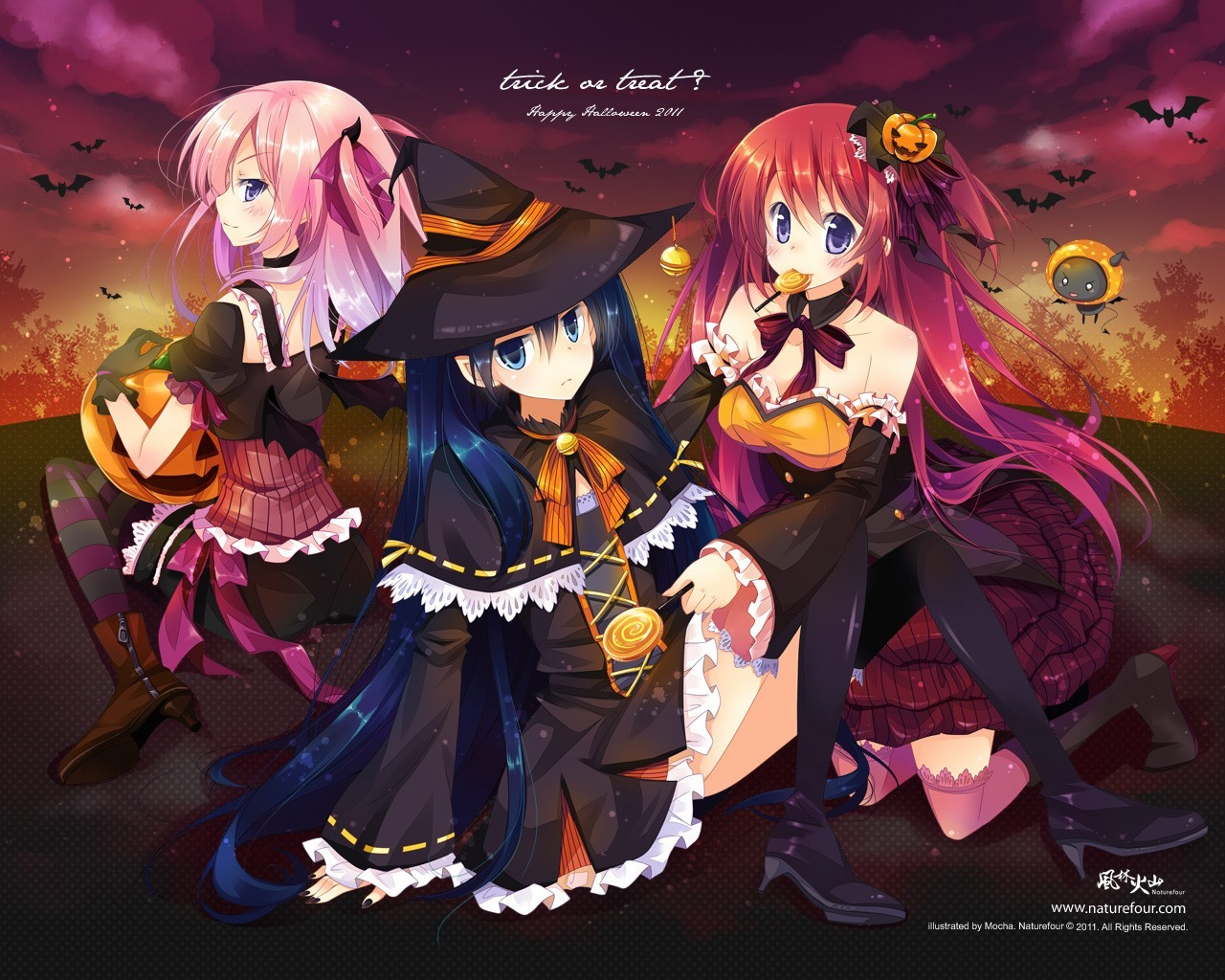 witch Halloween thigh highs HD Wallpaper