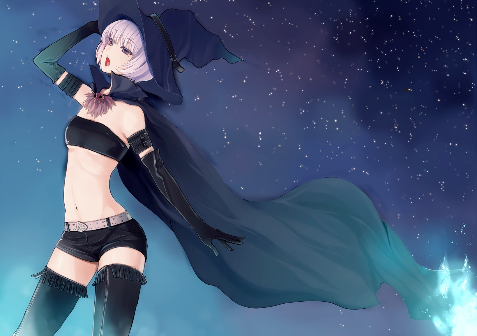 witch thigh highs HD Wallpaper