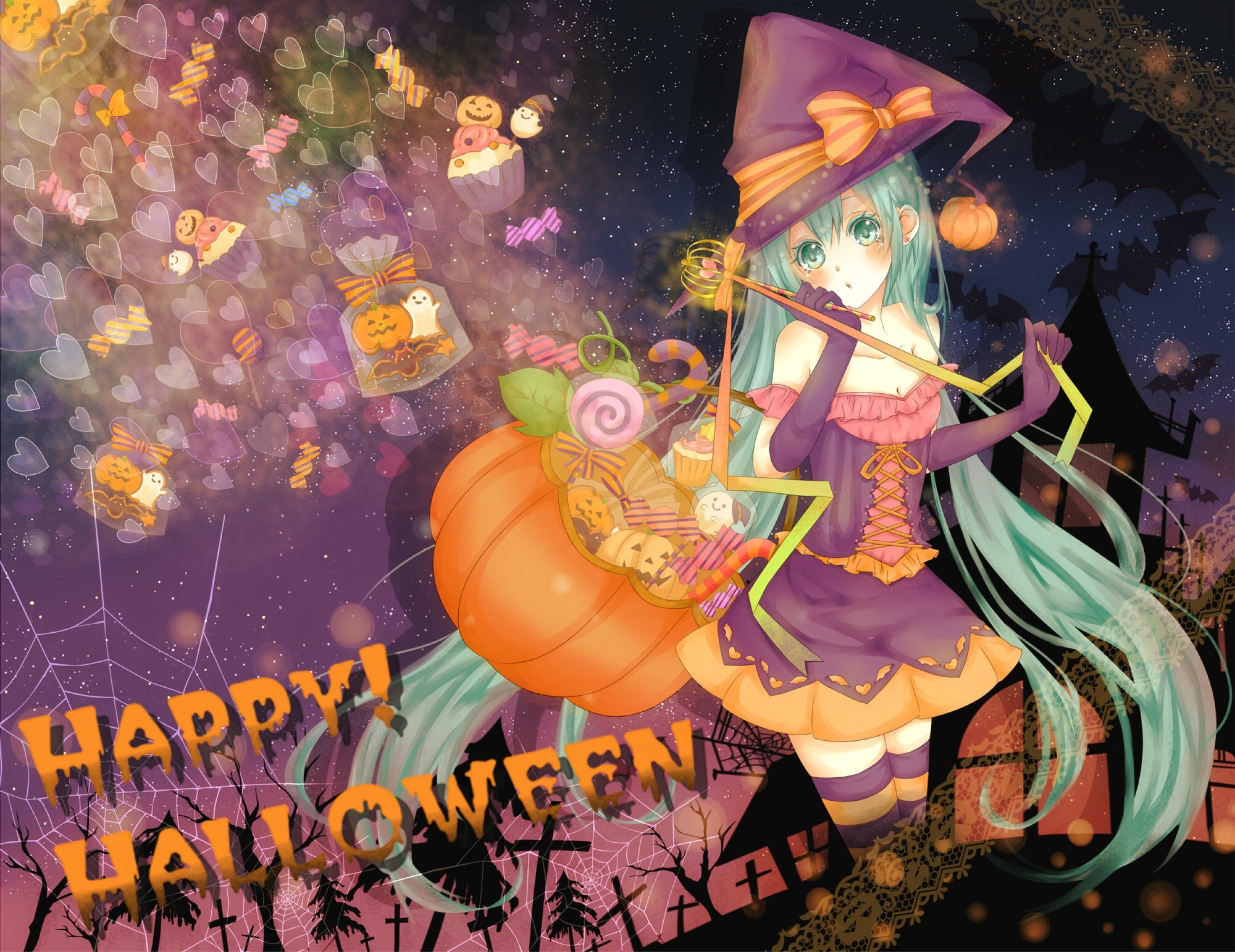 witch vocaloid gloves hatsune HD Wallpaper