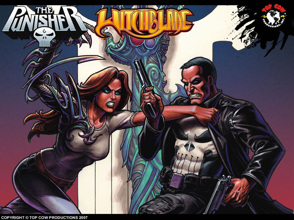 witchblade The punisher marvel HD Wallpaper