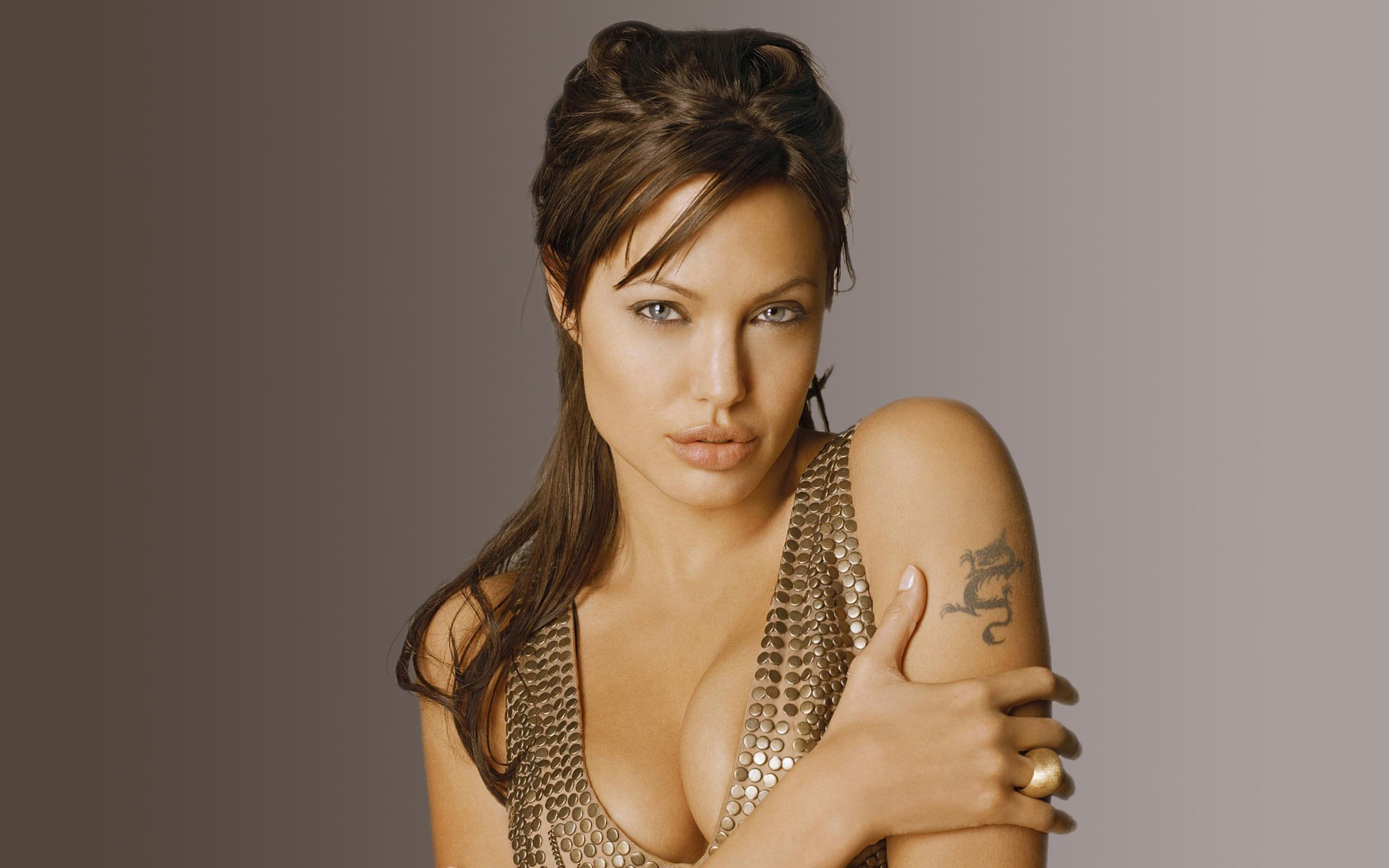 woman Angelina Jolie Simple HD Wallpaper