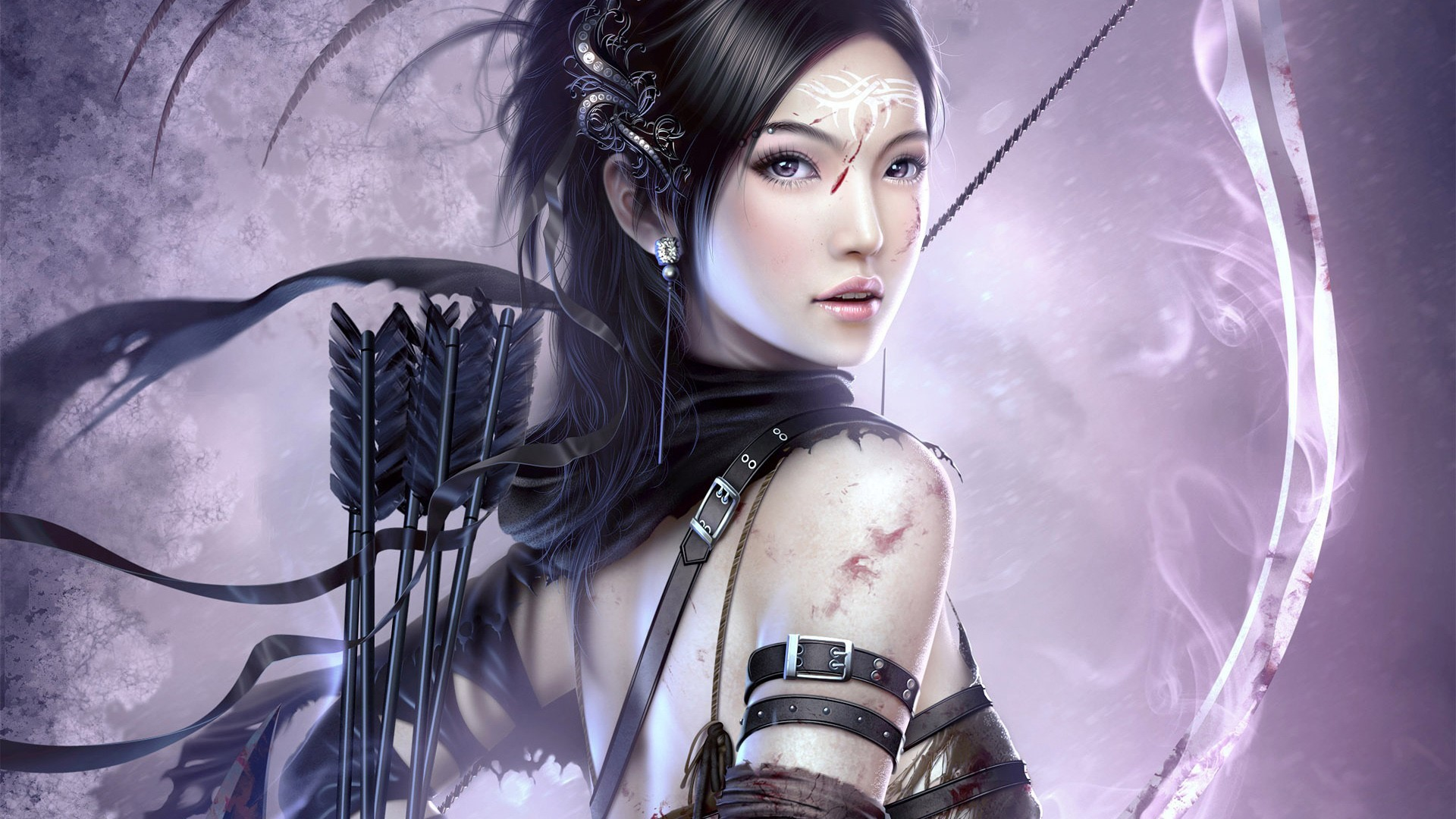 woman Archers Chinese asians HD Wallpaper