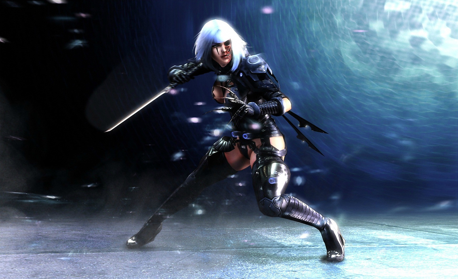 woman assassins cyborgs weapons HD Wallpaper