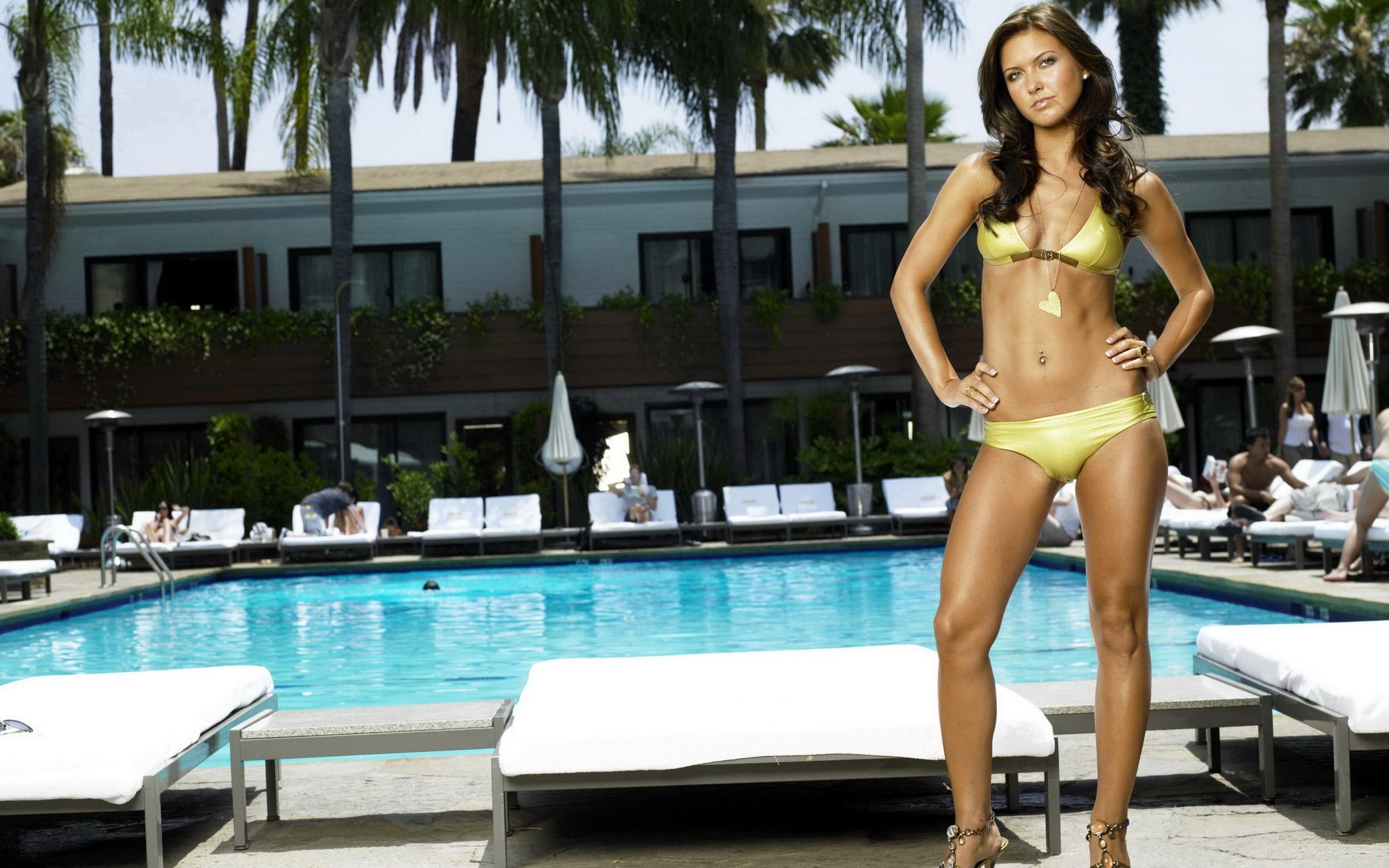 woman bikini Audrina Patridge HD Wallpaper