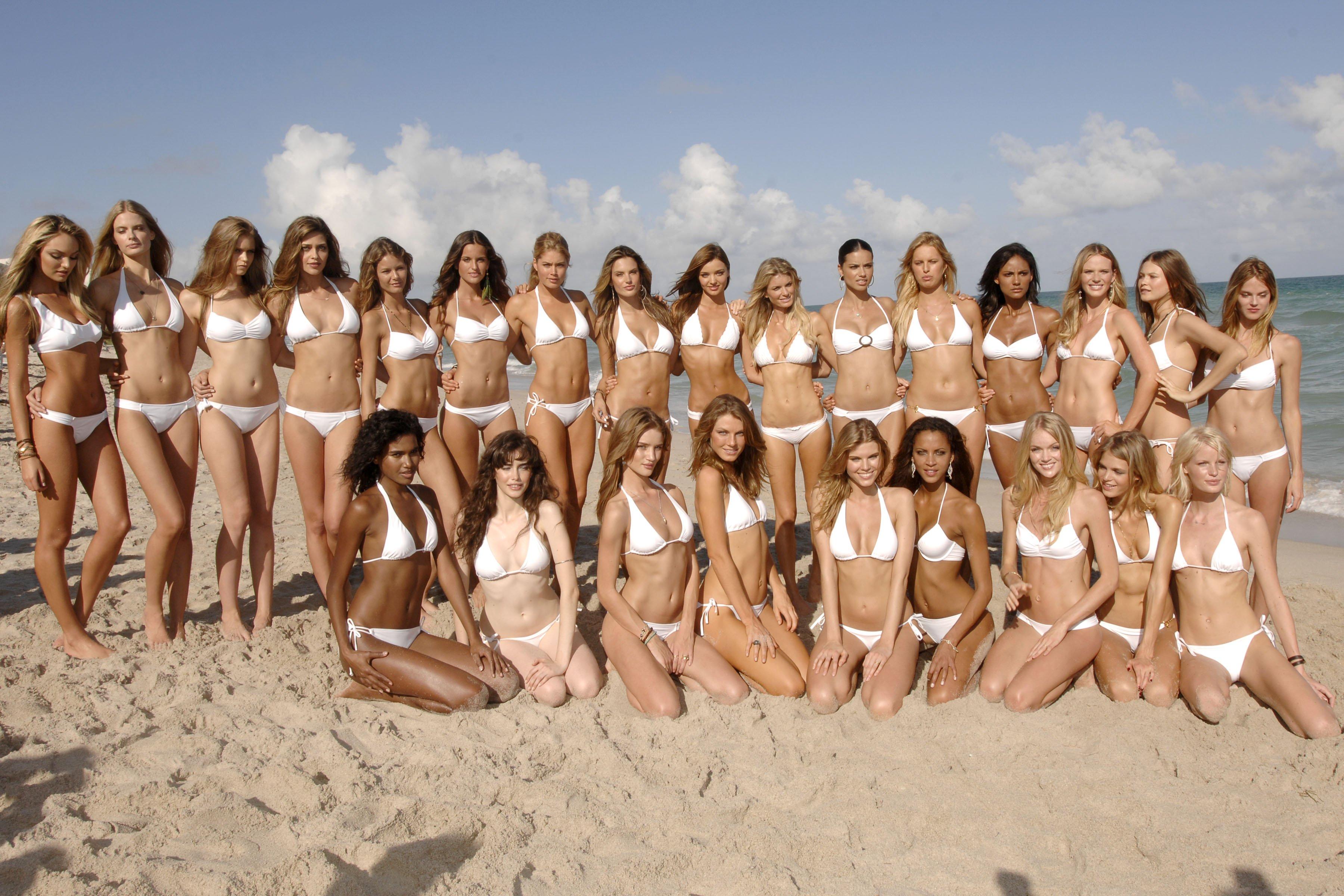 bikini beach miranda kerr adriana lima sand models doutzen kroes miami