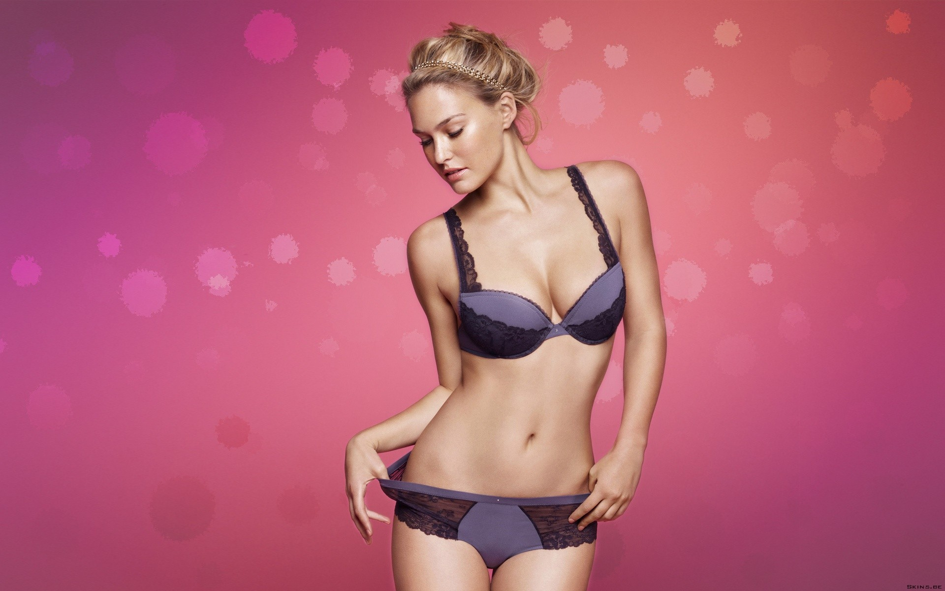 woman blondes lingerie bar refaeli HD Wallpaper