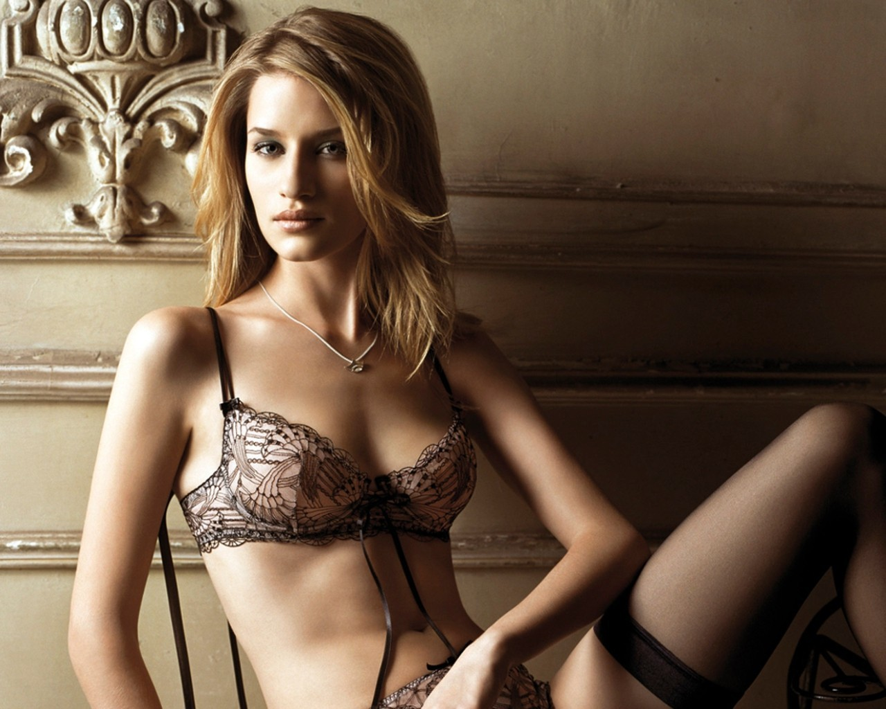 woman blondes lingerie Linda Vojtova HD Wallpaper