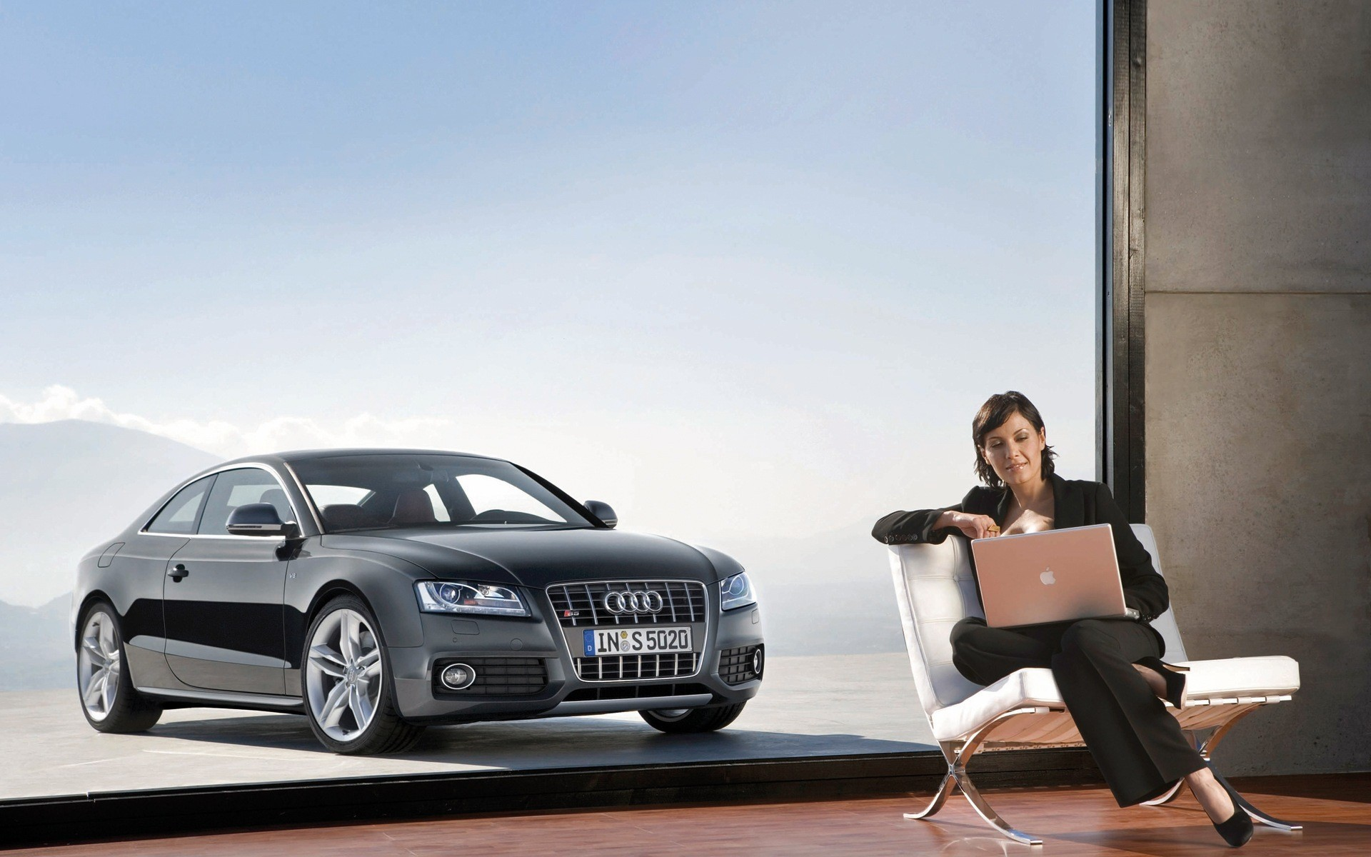 woman cars Audi Laptops HD Wallpaper