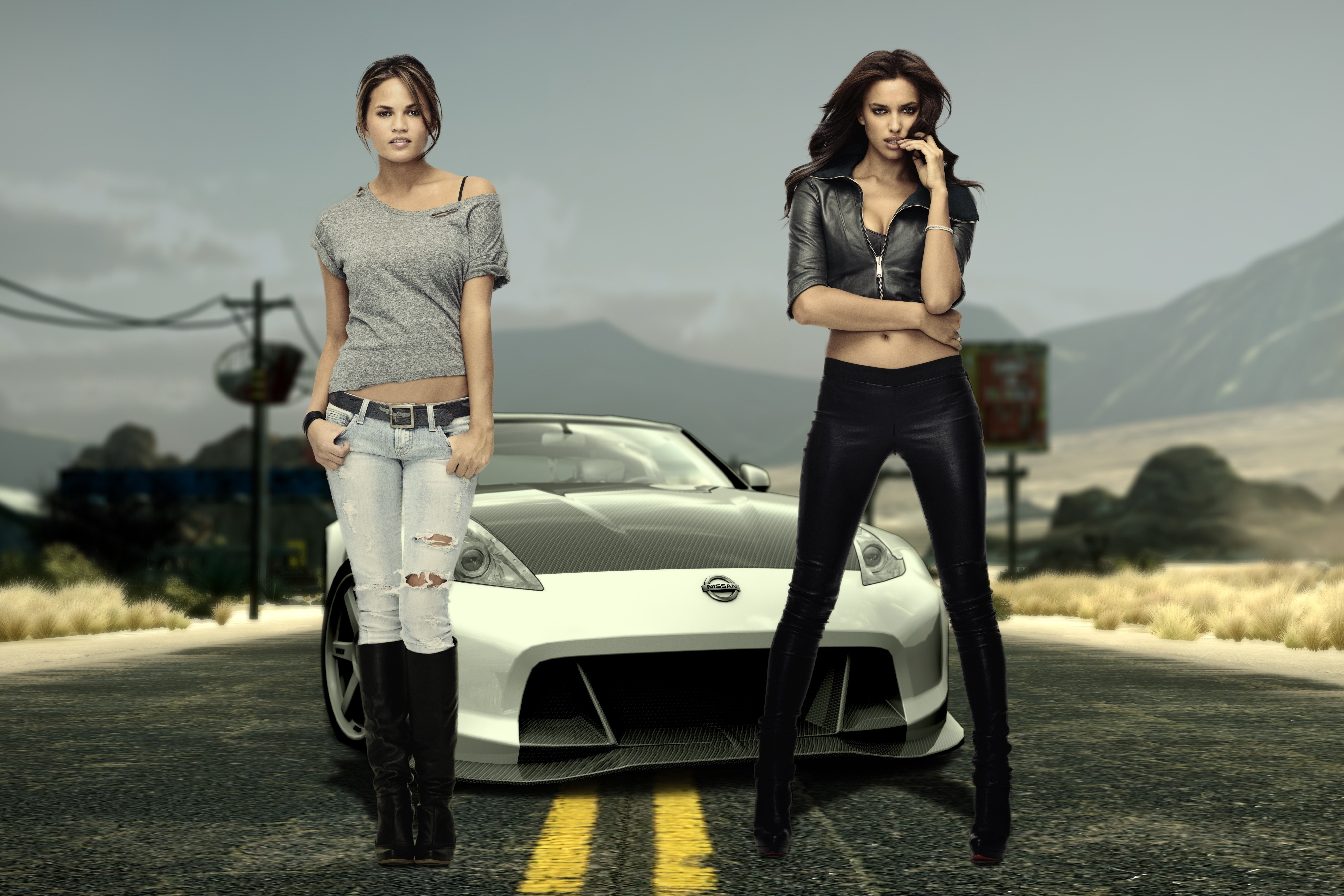 woman cars irina shayk HD Wallpaper