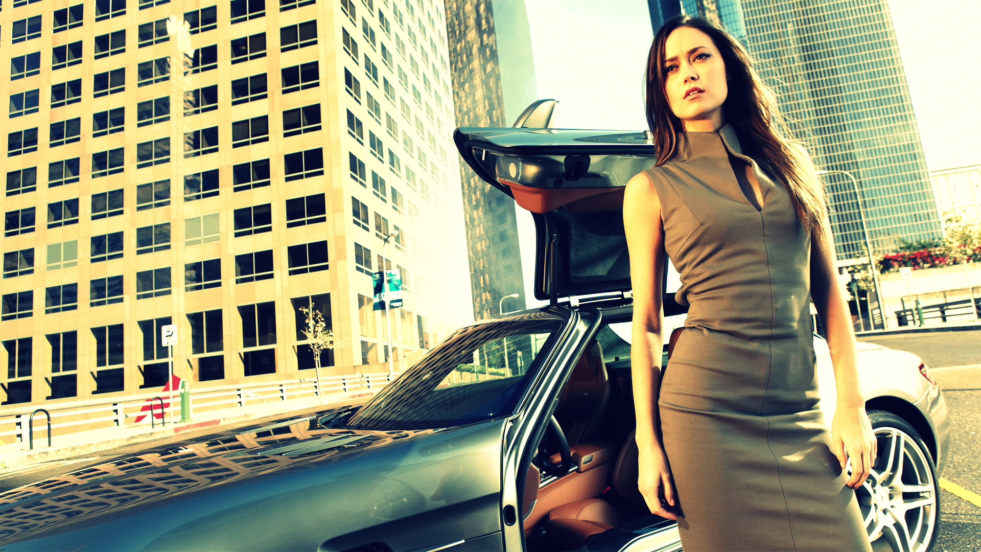 woman cars summer glau HD Wallpaper