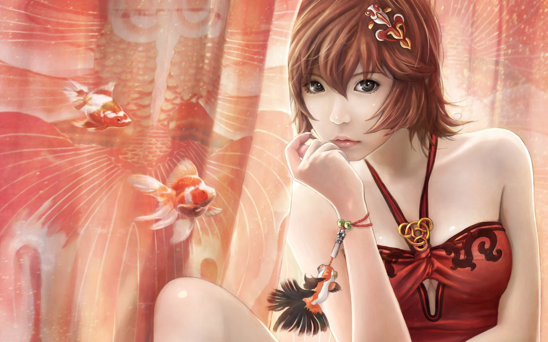 woman cgi asians artwork HD Wallpaper