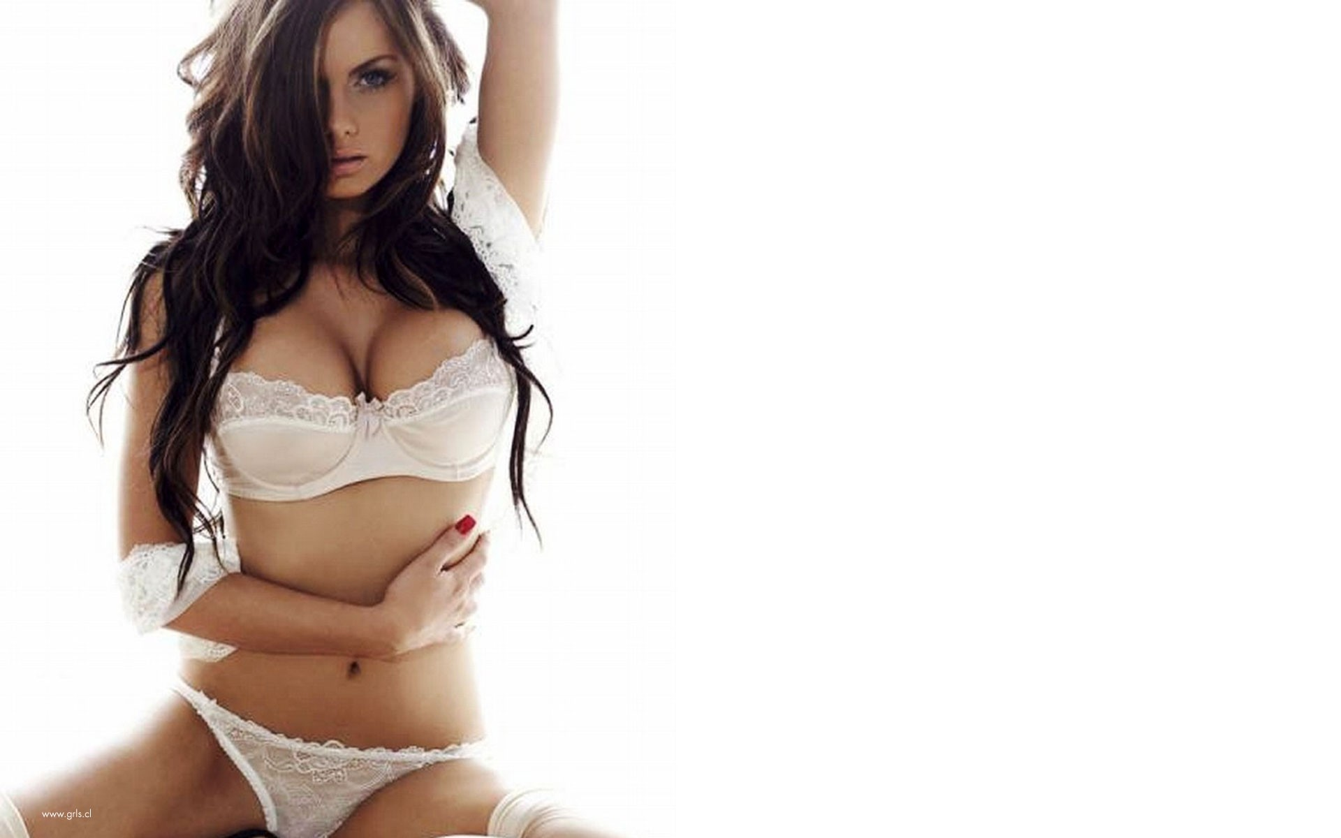 woman cleavage Jessica Jane HD Wallpaper