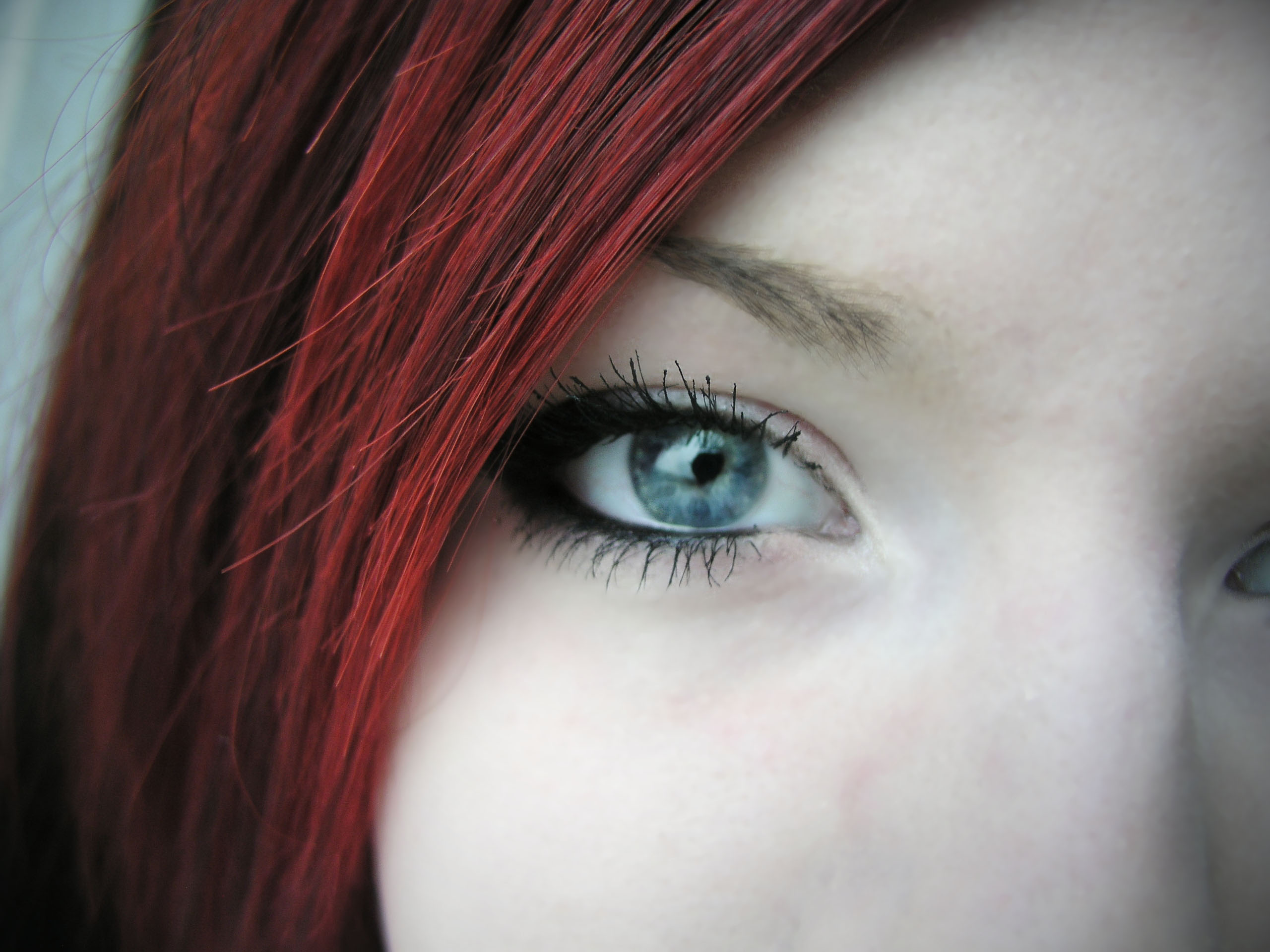 woman close-up blue eyes HD Wallpaper