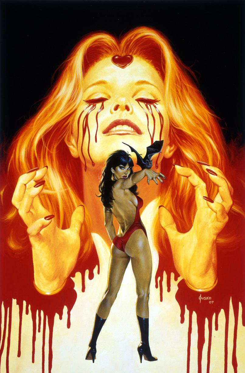 woman comics Vampirella artwork HD Wallpaper