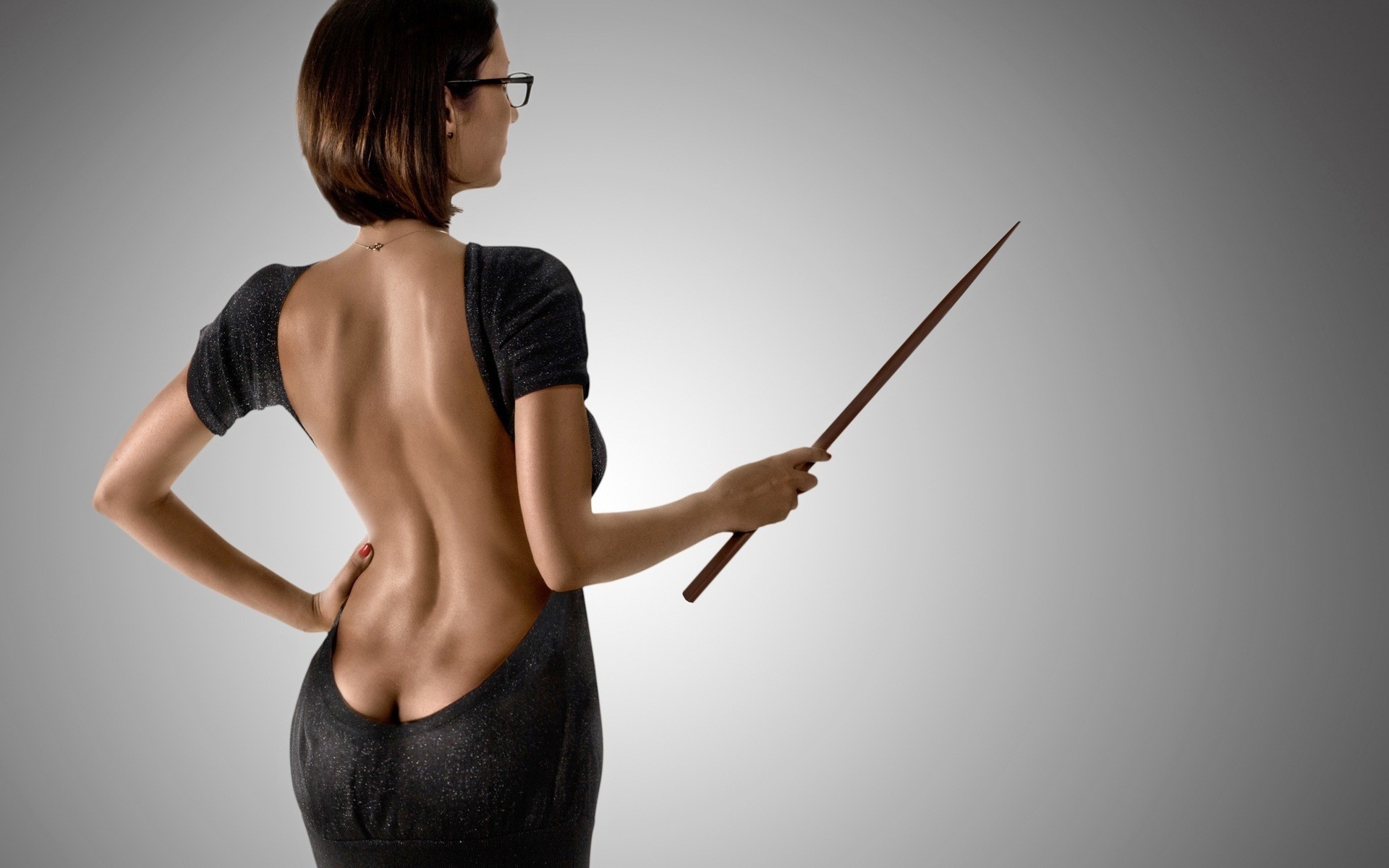 woman dress ass glasses HD Wallpaper