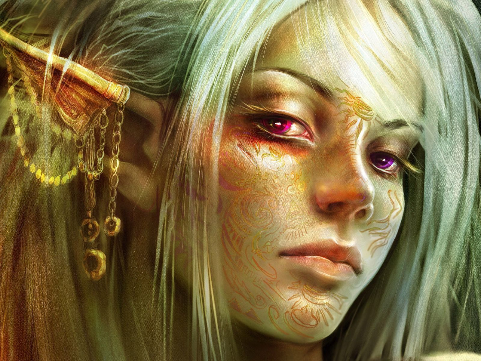 woman fantasy art elves HD Wallpaper