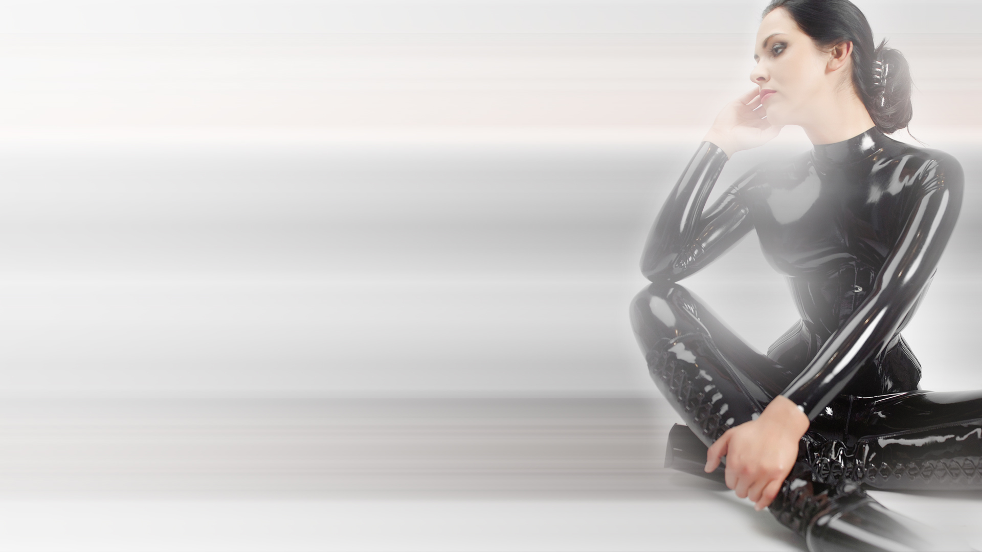 woman fetish latex catsuits HD Wallpaper