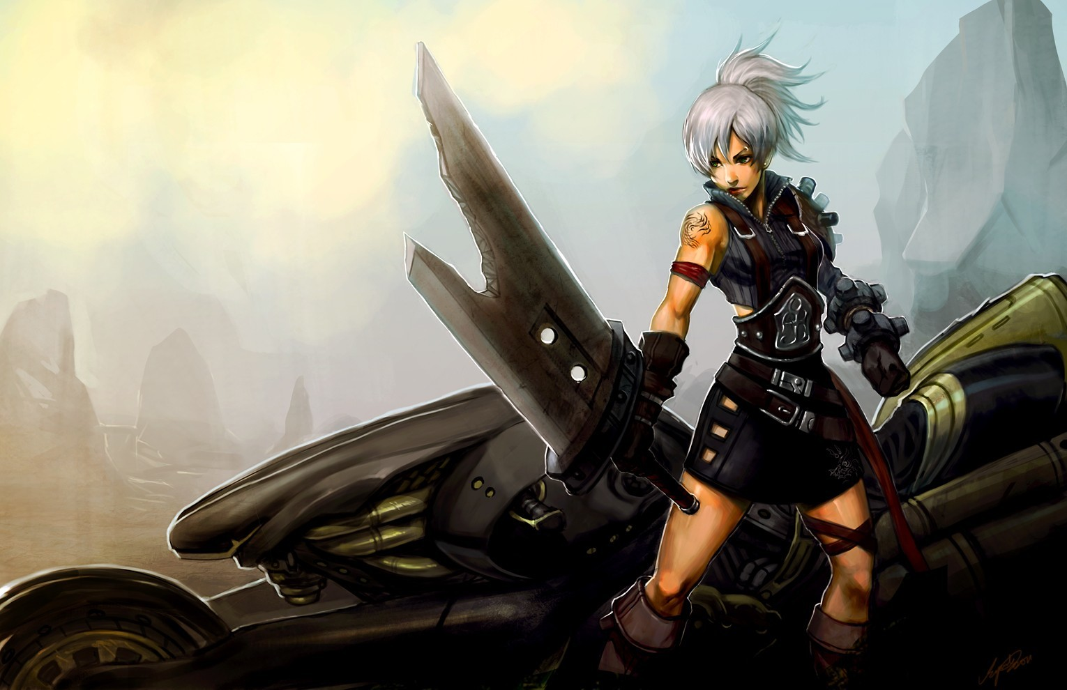 woman Final Fantasy text HD Wallpaper