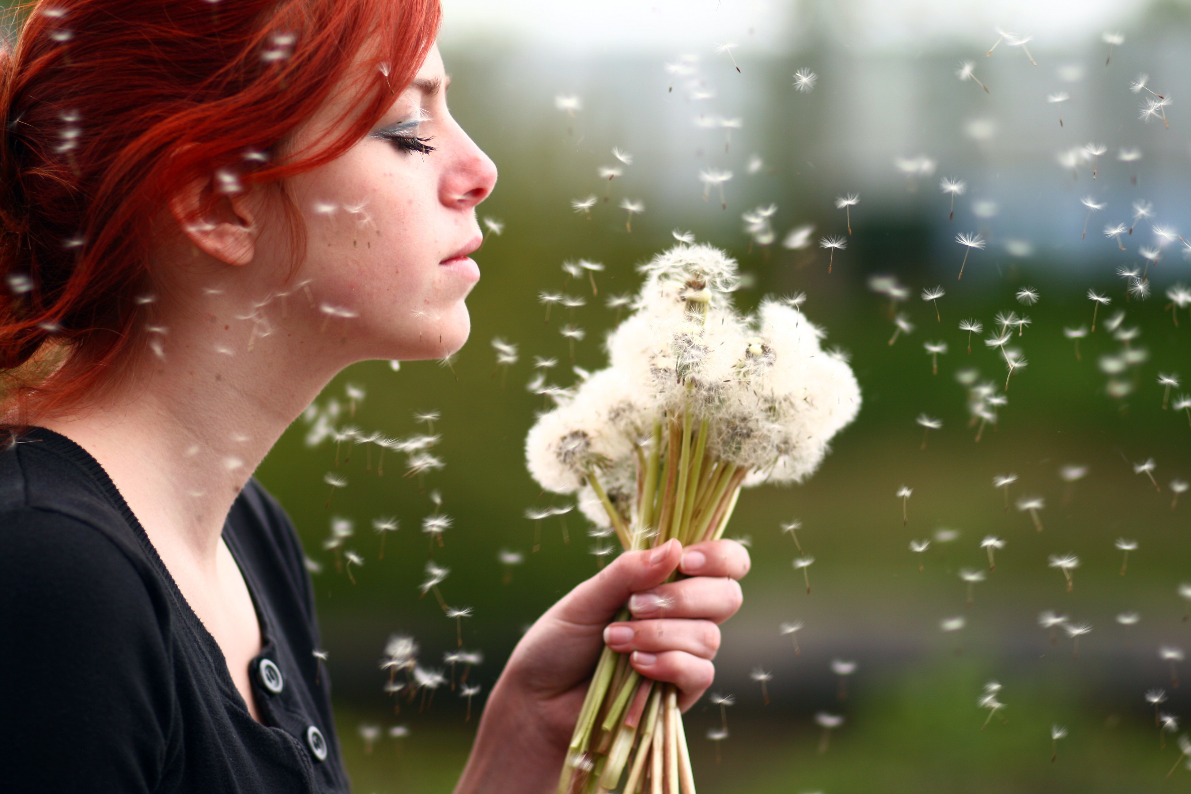 woman Flowers redheads deviantart HD Wallpaper