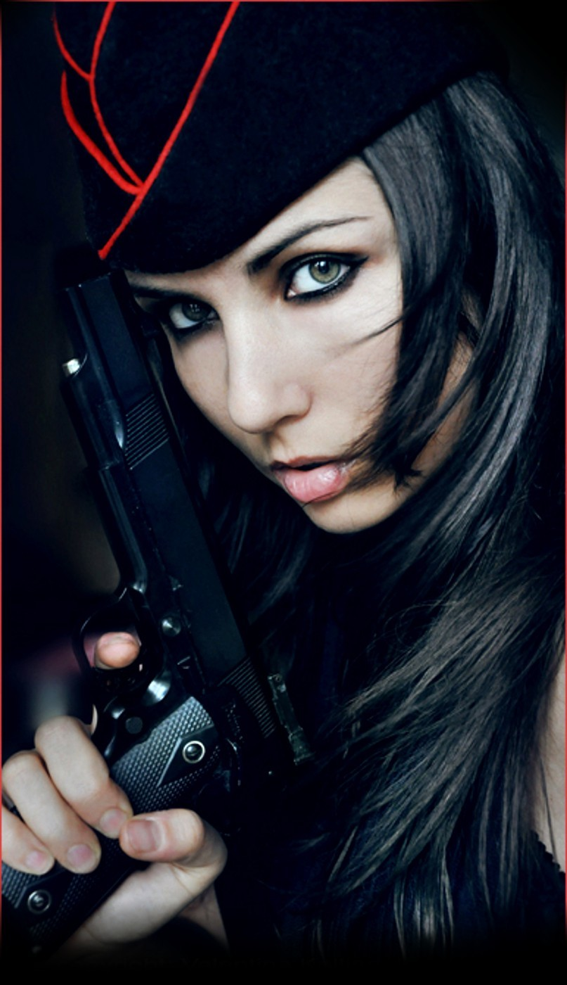 woman girls with guns HD Wallpaper