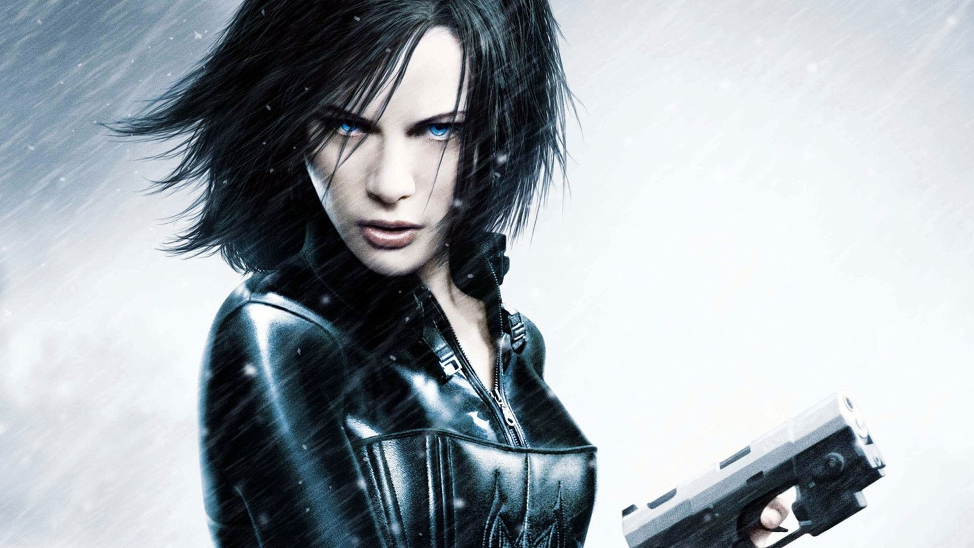 woman Guns blue eyes HD Wallpaper