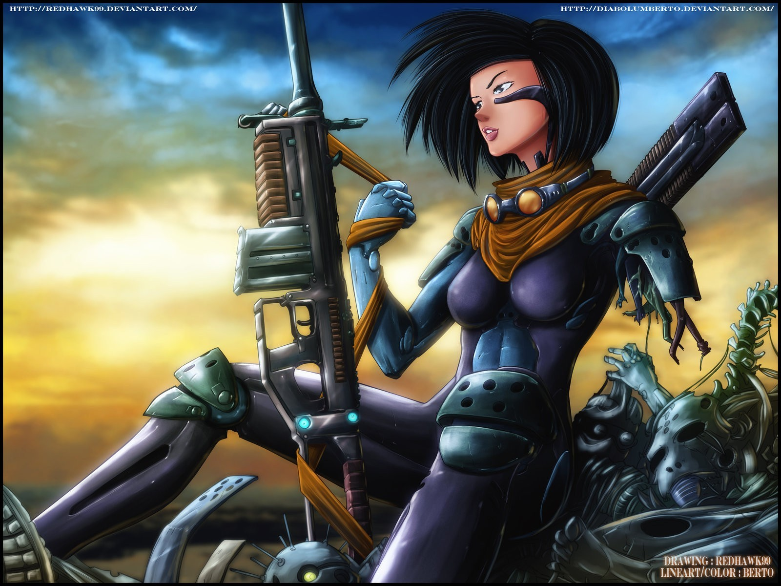 woman Guns Gally Gunnm HD Wallpaper