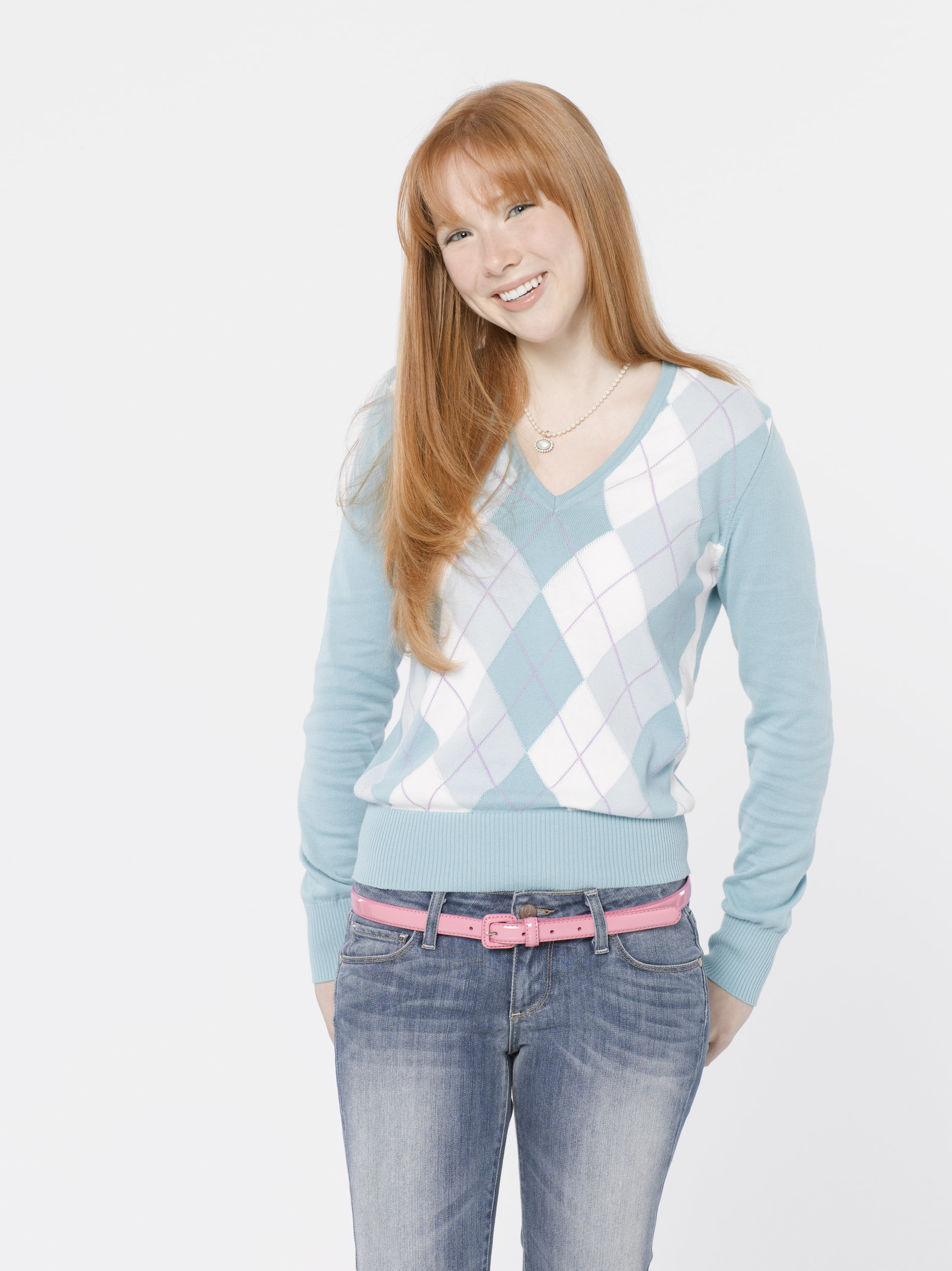 woman jeans Actress redheads HD Wallpaper
