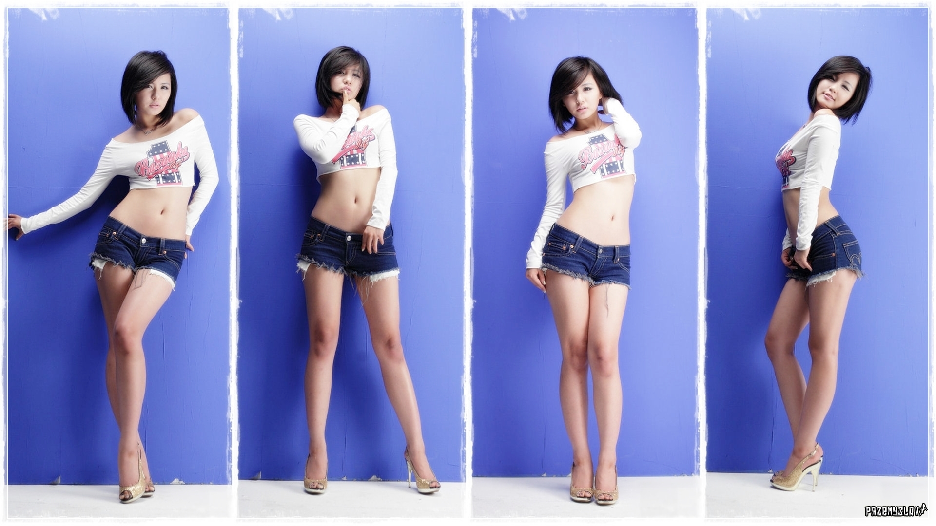 woman jeans asians Ryu HD Wallpaper