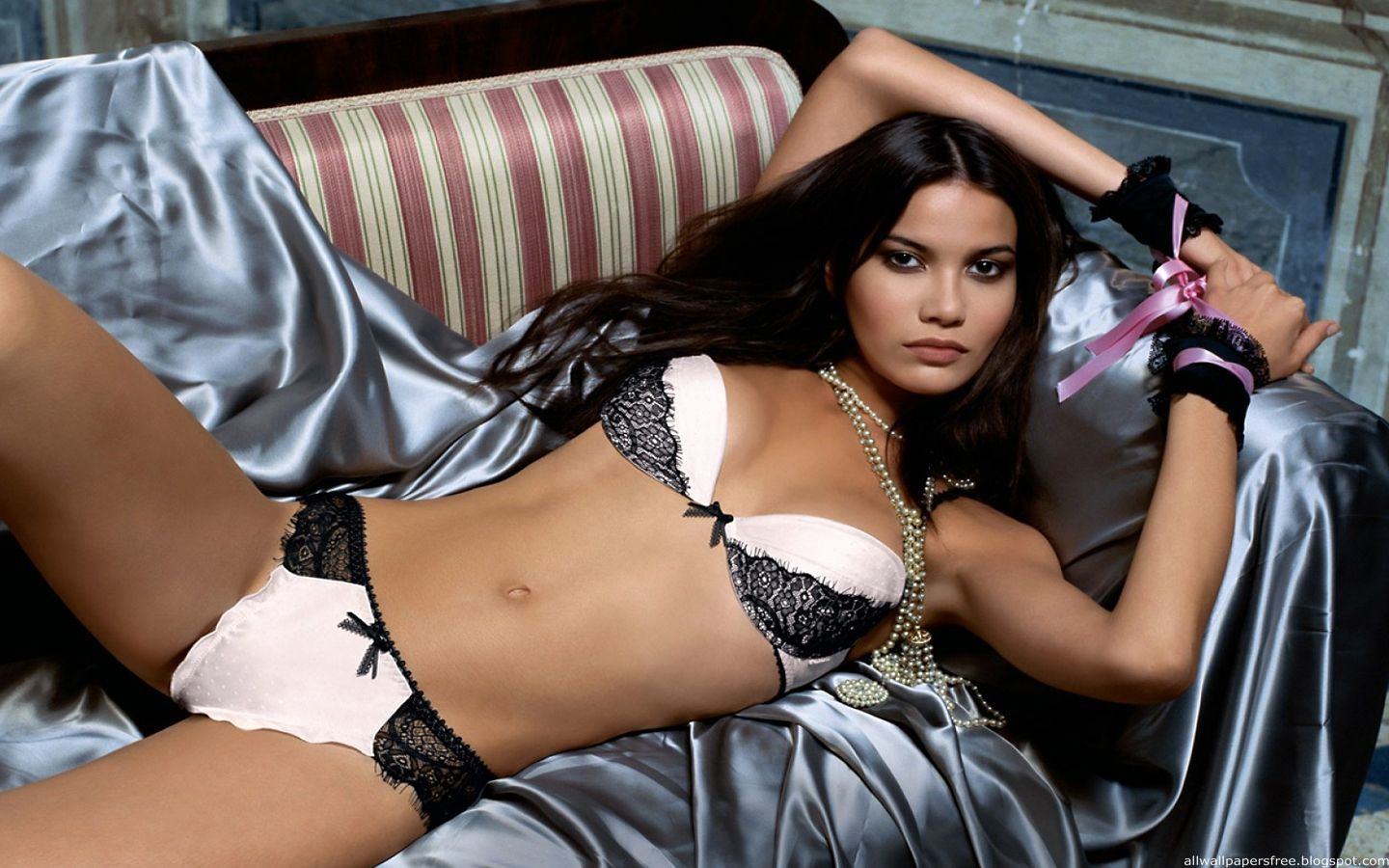woman lingerie brunettes HD Wallpaper