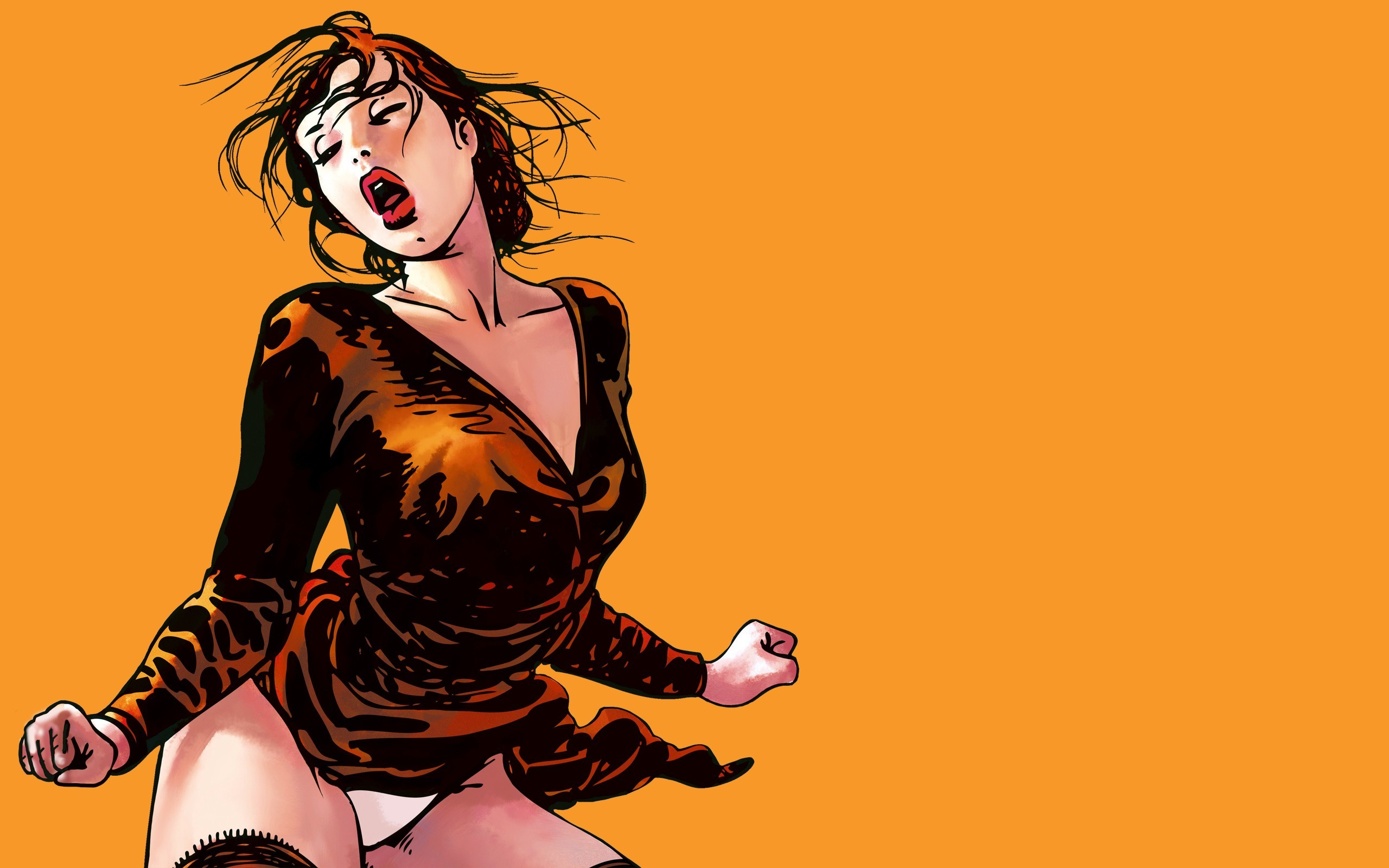 woman multicolor orange Milo HD Wallpaper