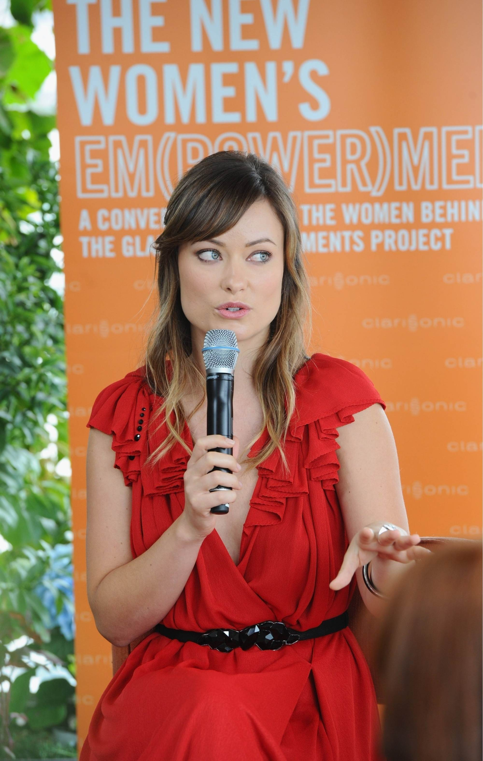 woman Olivia Wilde red